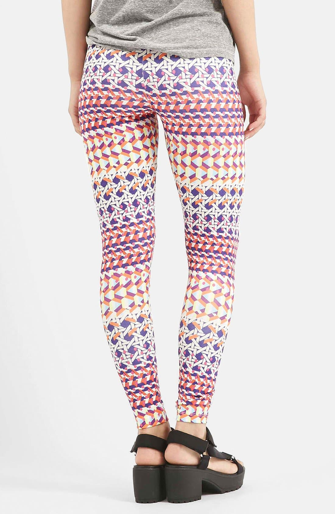 Alternate Image 2  - Topshop Geo Print Leggings
