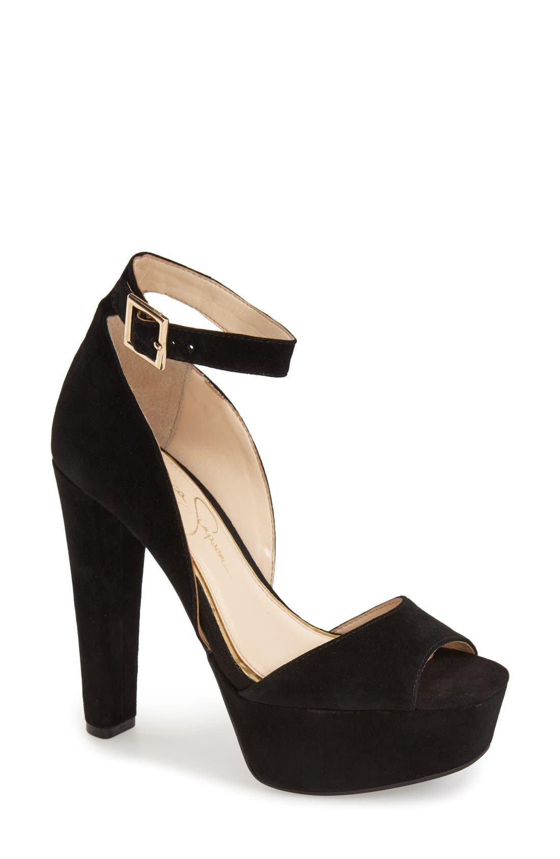 Alternate Image 1 Selected - Jessica Simpson 'Athens' Ankle Strap Platform Sandal (Women)