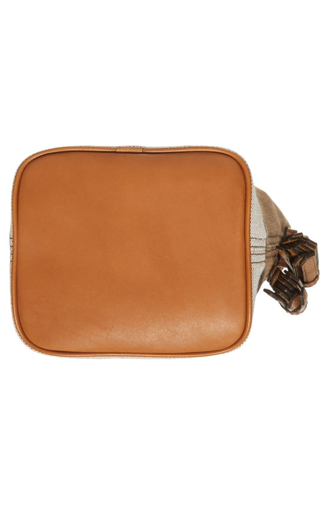 Alternate Image 6  - Burberry Brit 'Mini Ashby' Canvas Check Crossbody Bucket Bag