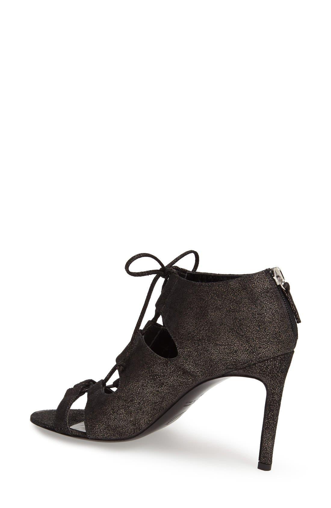 Alternate Image 2  - Delman 'Jolie' Lace-Up Sandal (Women)