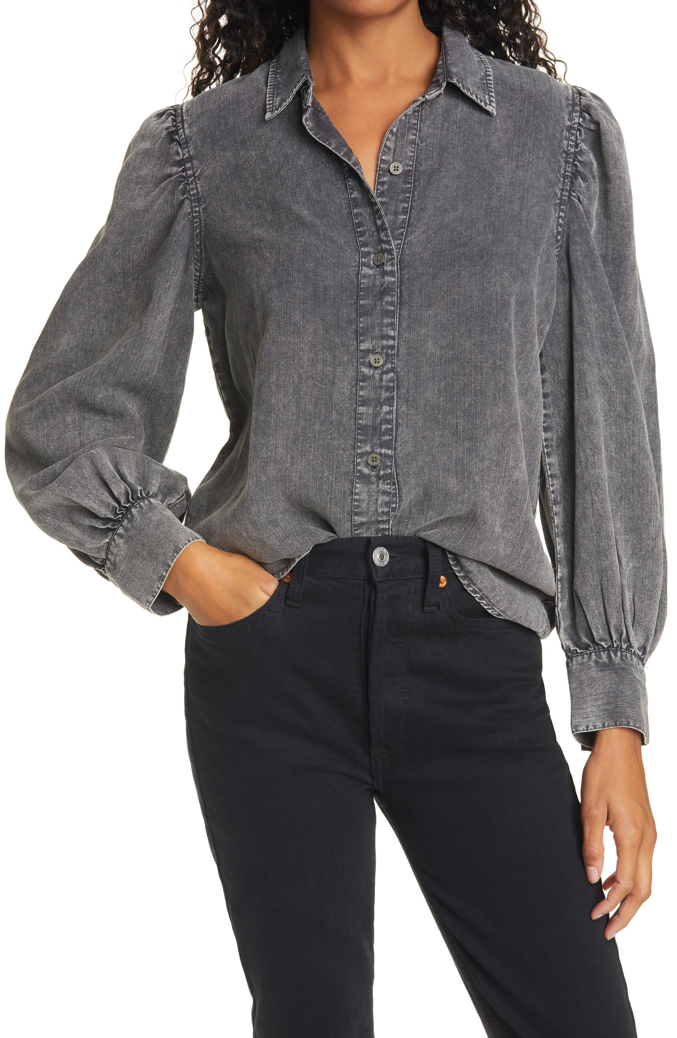 Max Studio London Womens Utility Button Up Shirt