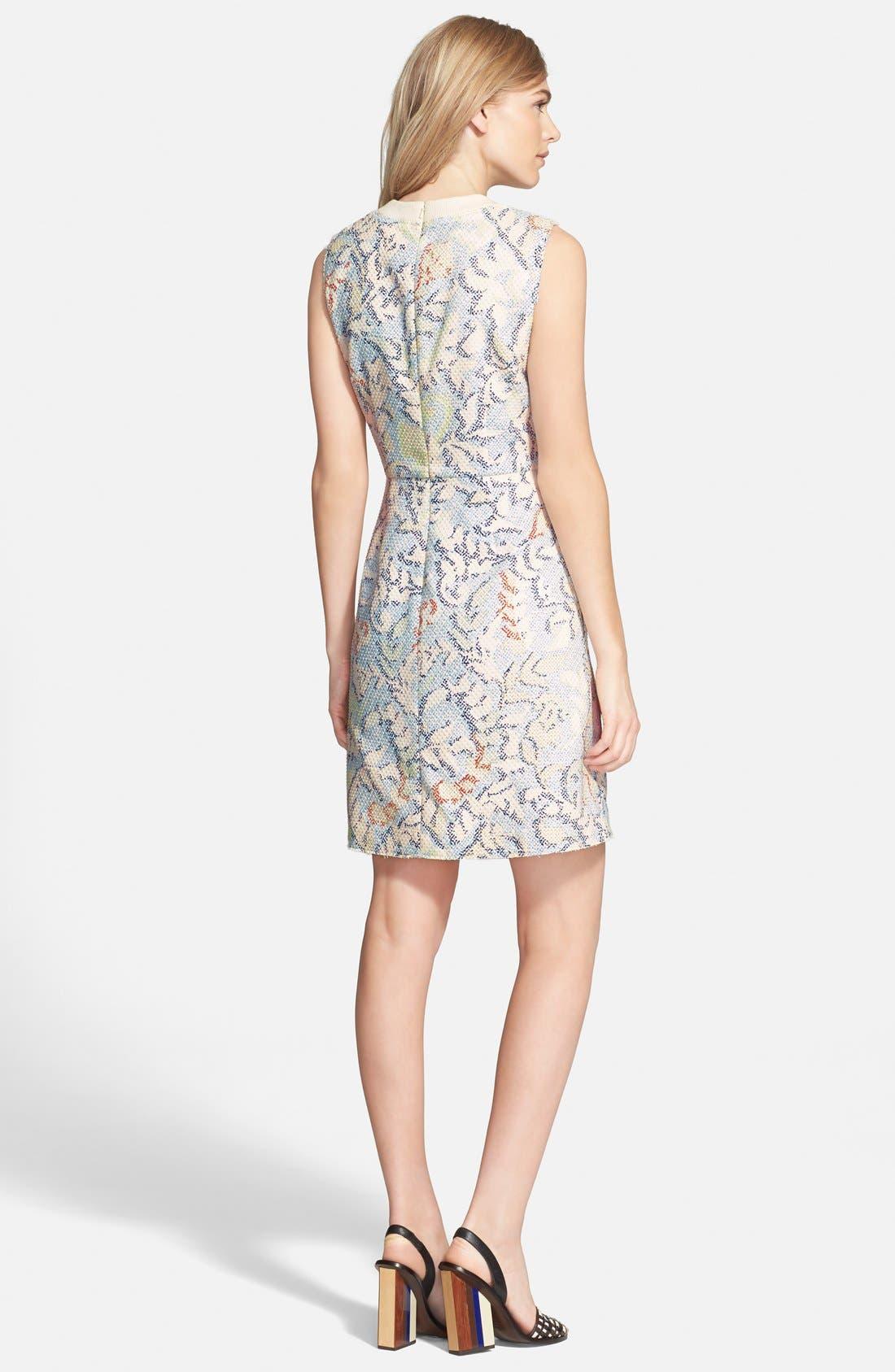 Alternate Image 2  - Tory Burch Stretch Jacquard Fit & Flare Dress