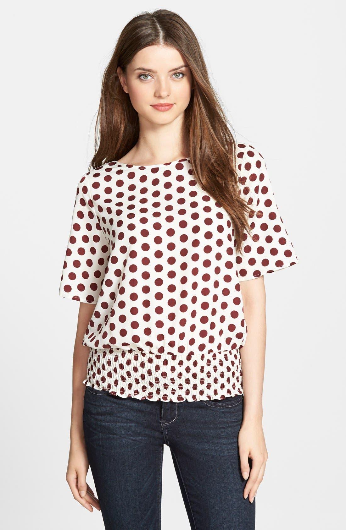 Alternate Image 1 Selected - MICHAEL Michael Kors'Ana' Dot Print Kimono Sleeve Top
