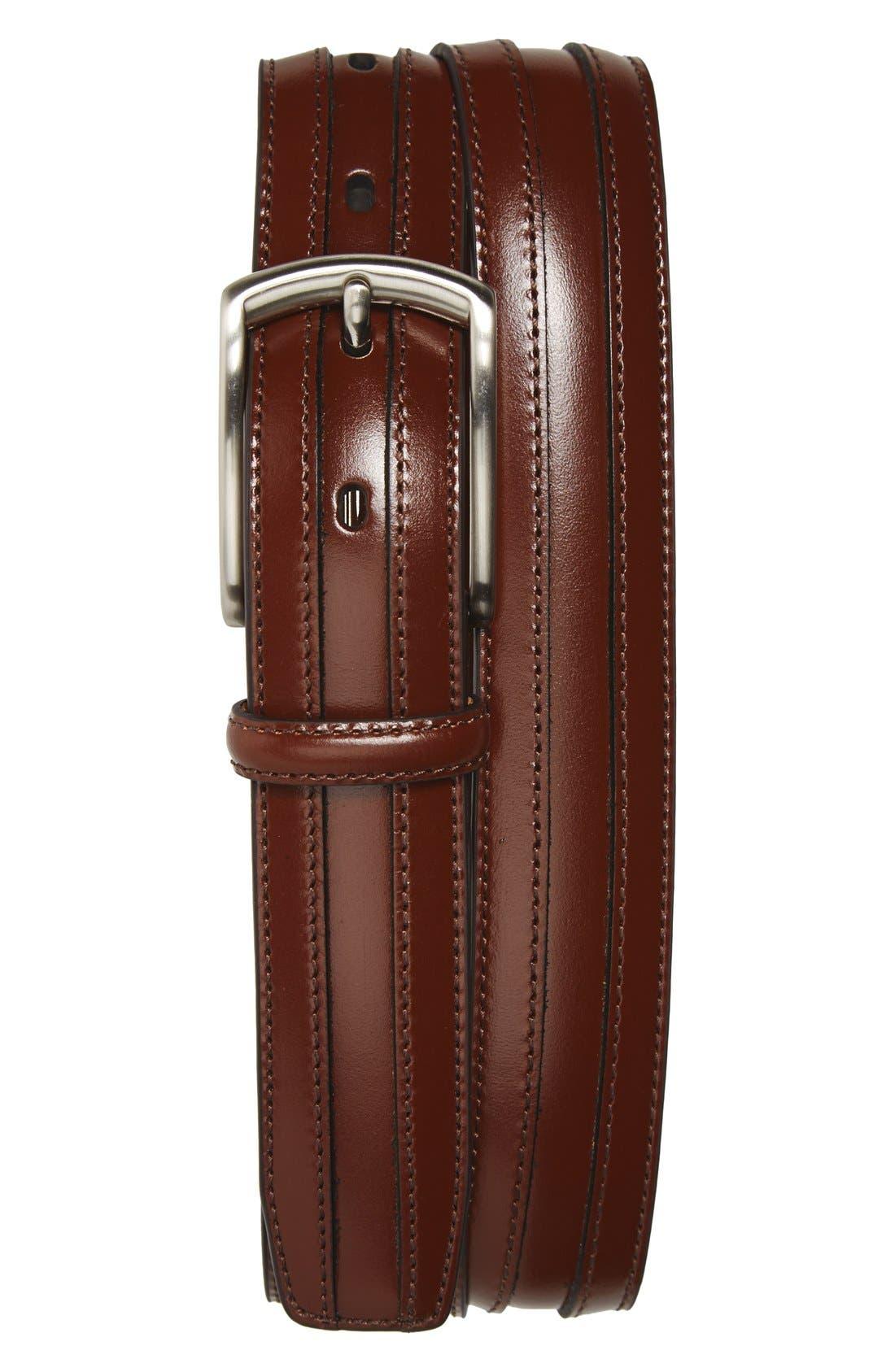Calfskin Belt,                         Main,                         color, Chestnut
