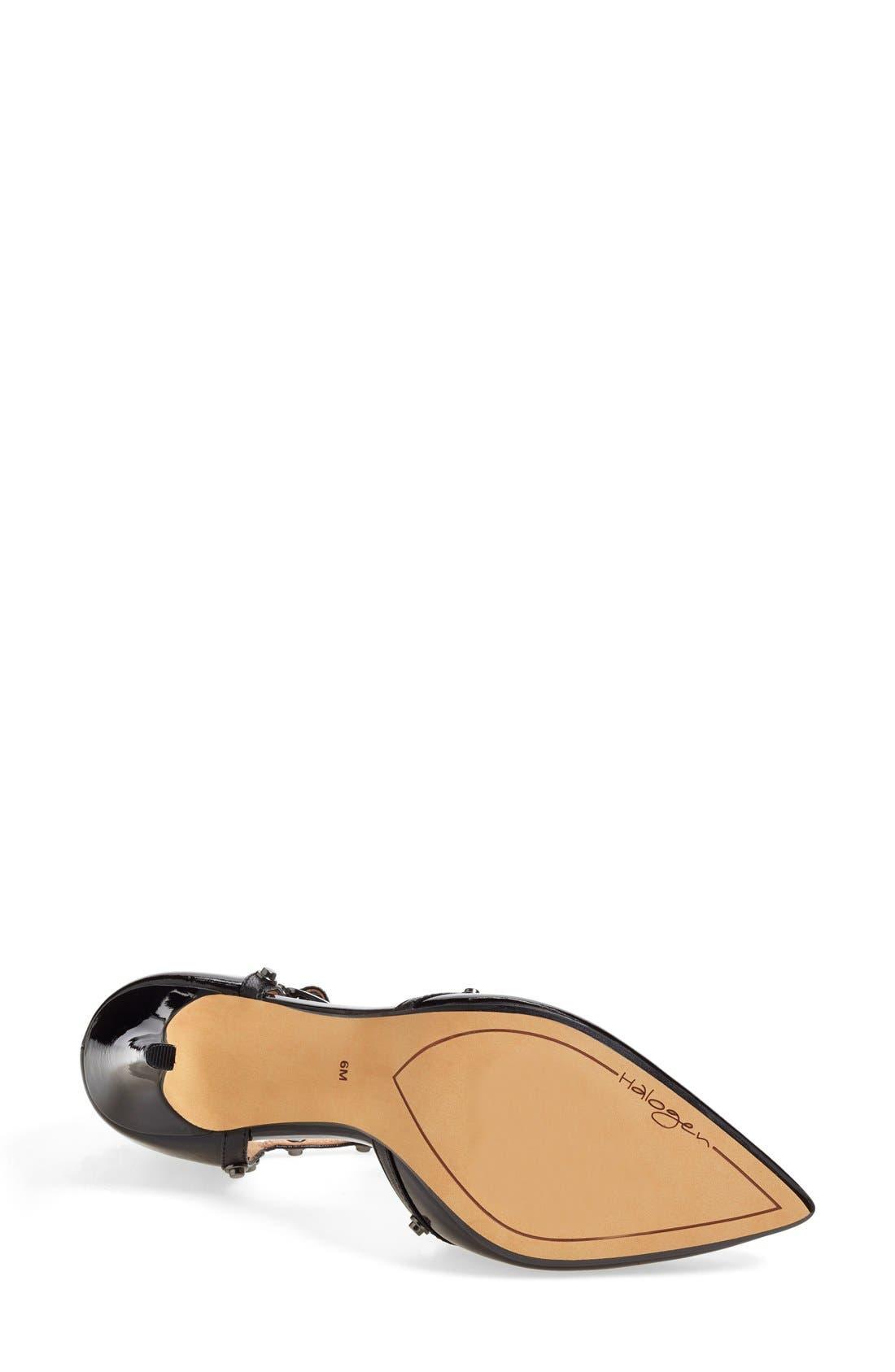 Alternate Image 4  - Halogen® 'Martine' Studded T-Strap Pump (Women)