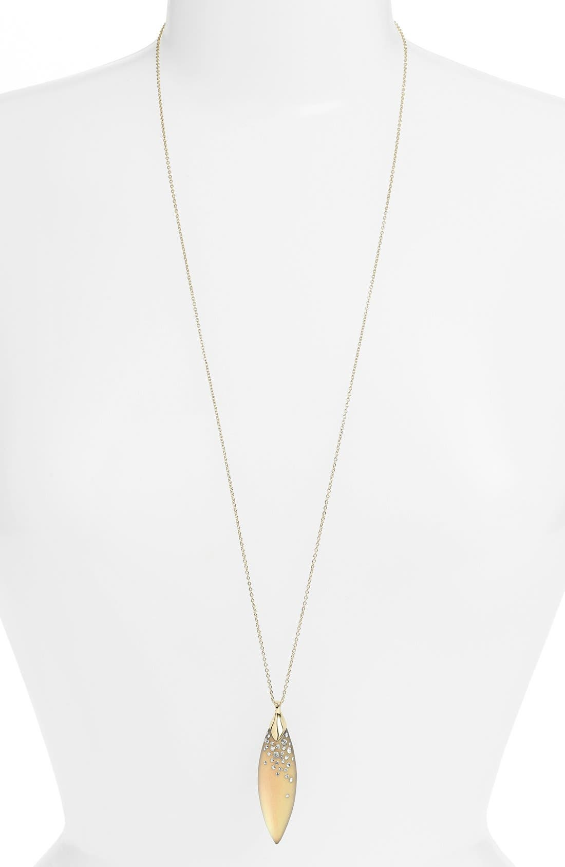 Alternate Image 2  - Alexis Bittar 'Lucite®' Encrusted Marquise Pendant Necklace