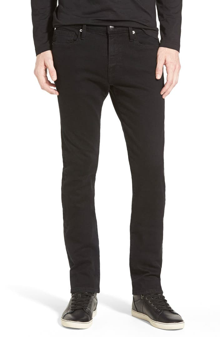 frame 39 l 39 homme 39 skinny fit jeans noir nordstrom. Black Bedroom Furniture Sets. Home Design Ideas