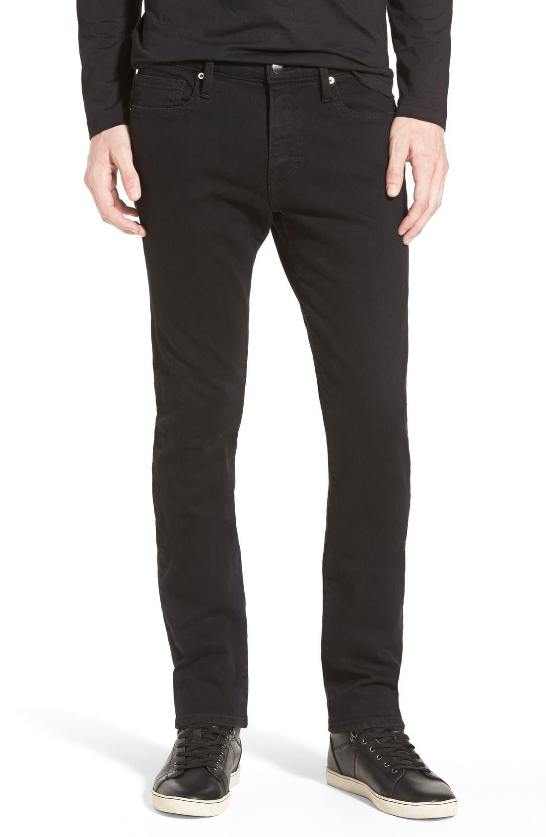 FRAME 'L'Homme' Skinny Fit Jeans (Noir)