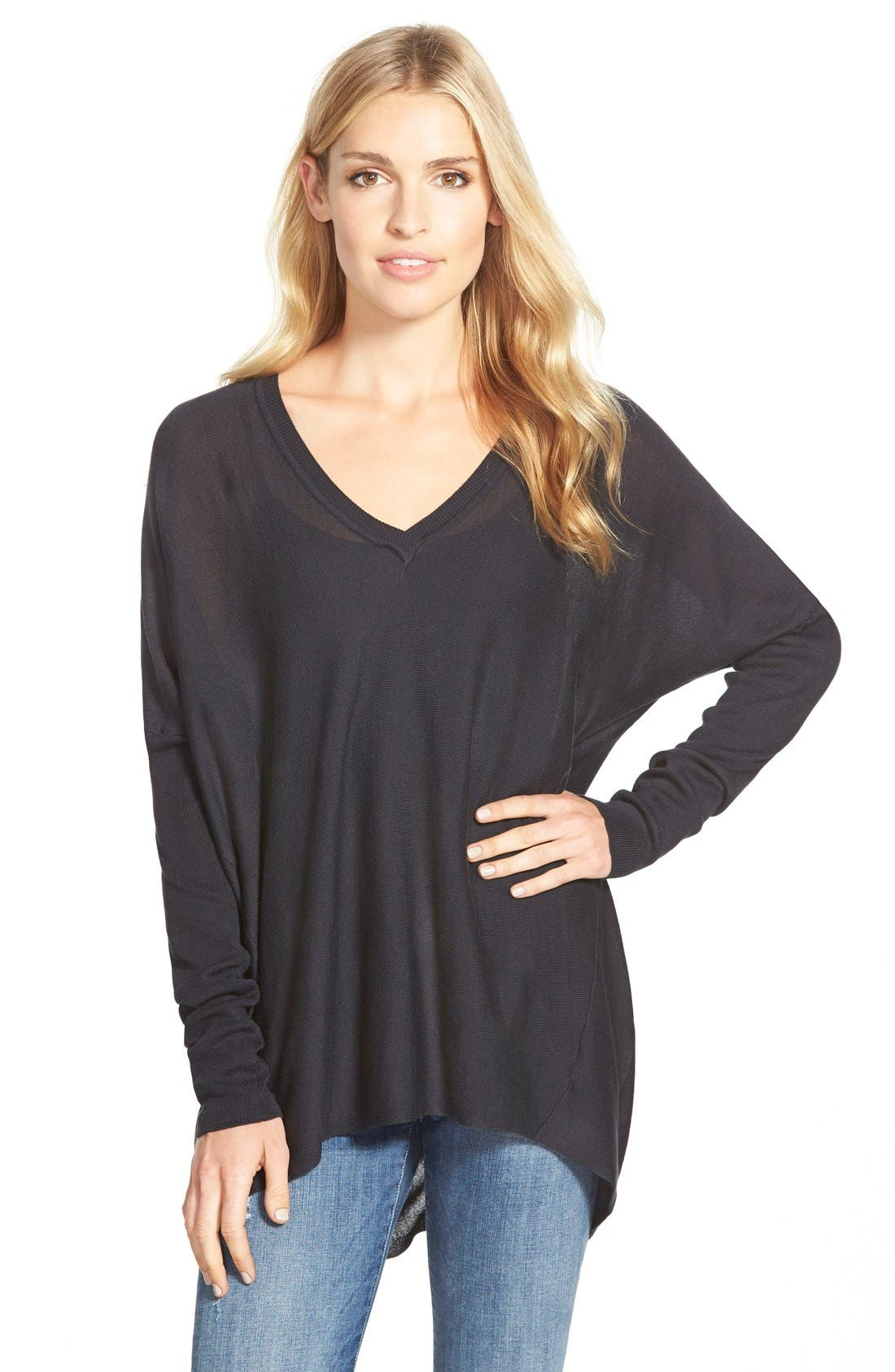 Press Cotton & Modal Boxy V-Neck Sweater