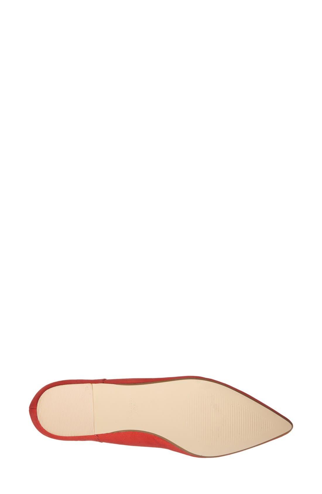 Alternate Image 4  - Topshop 'Finest' Pointy Toe Ghillie Flat (Women)