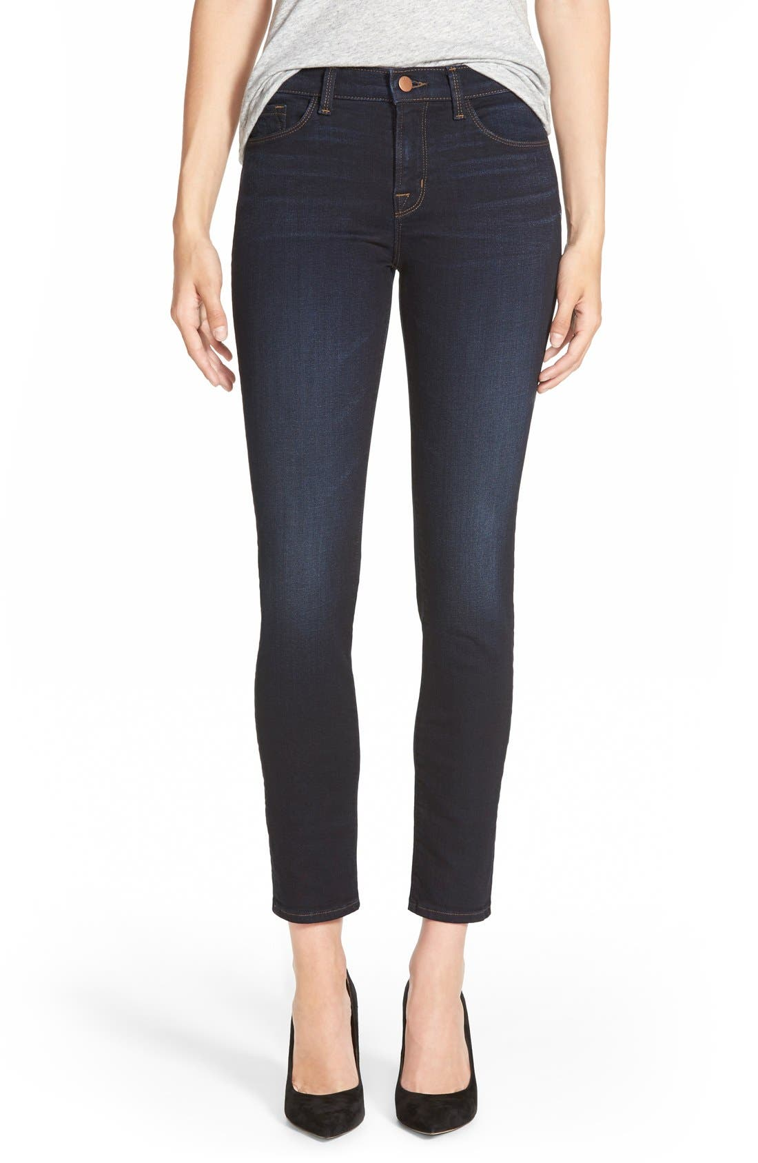 Main Image - J Brand Mid Rise Skinny Jeans (Embrace)