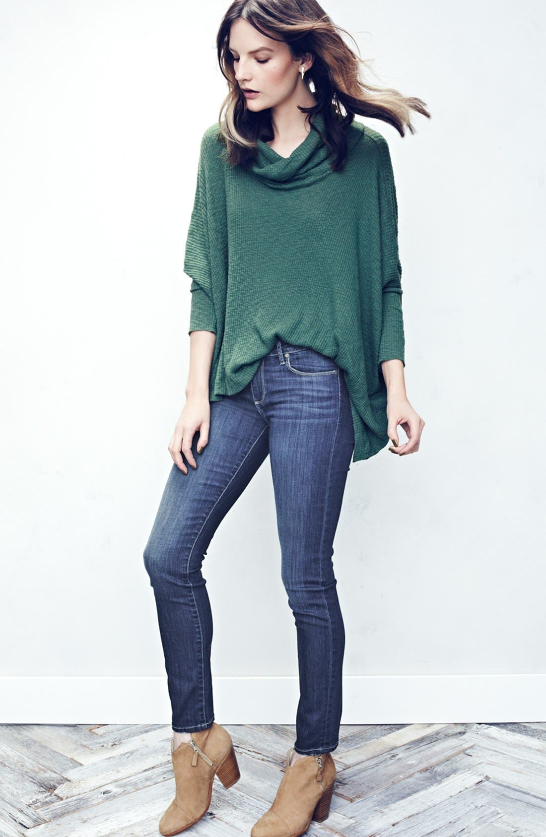 Alternate Image 7  - Paige Denim 'Skyline' Skinny Jeans (Raya) (Nordstrom Exclusive)