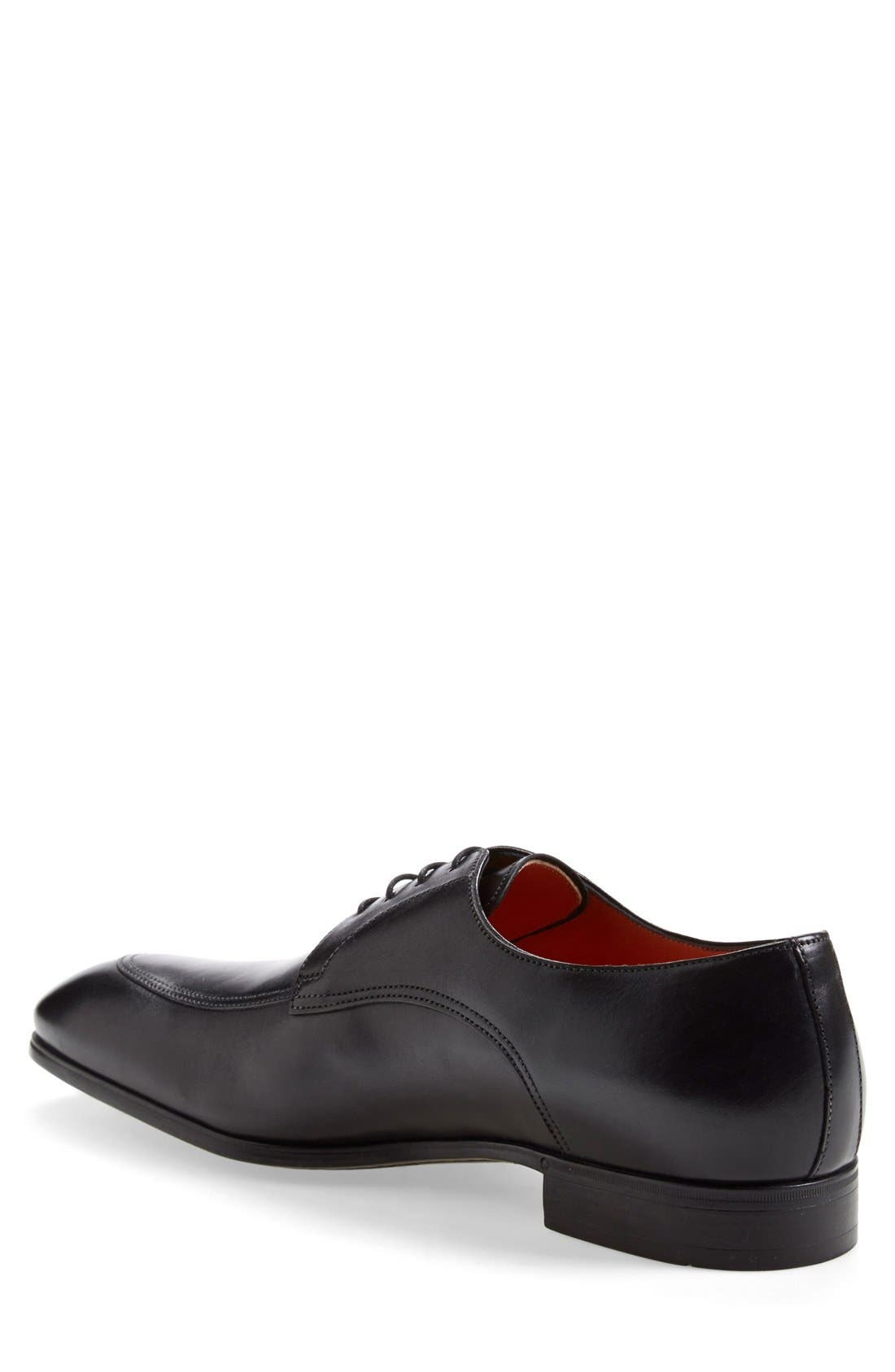 'Atwood' Apron Toe Derby,                             Alternate thumbnail 3, color,                             Black Leather