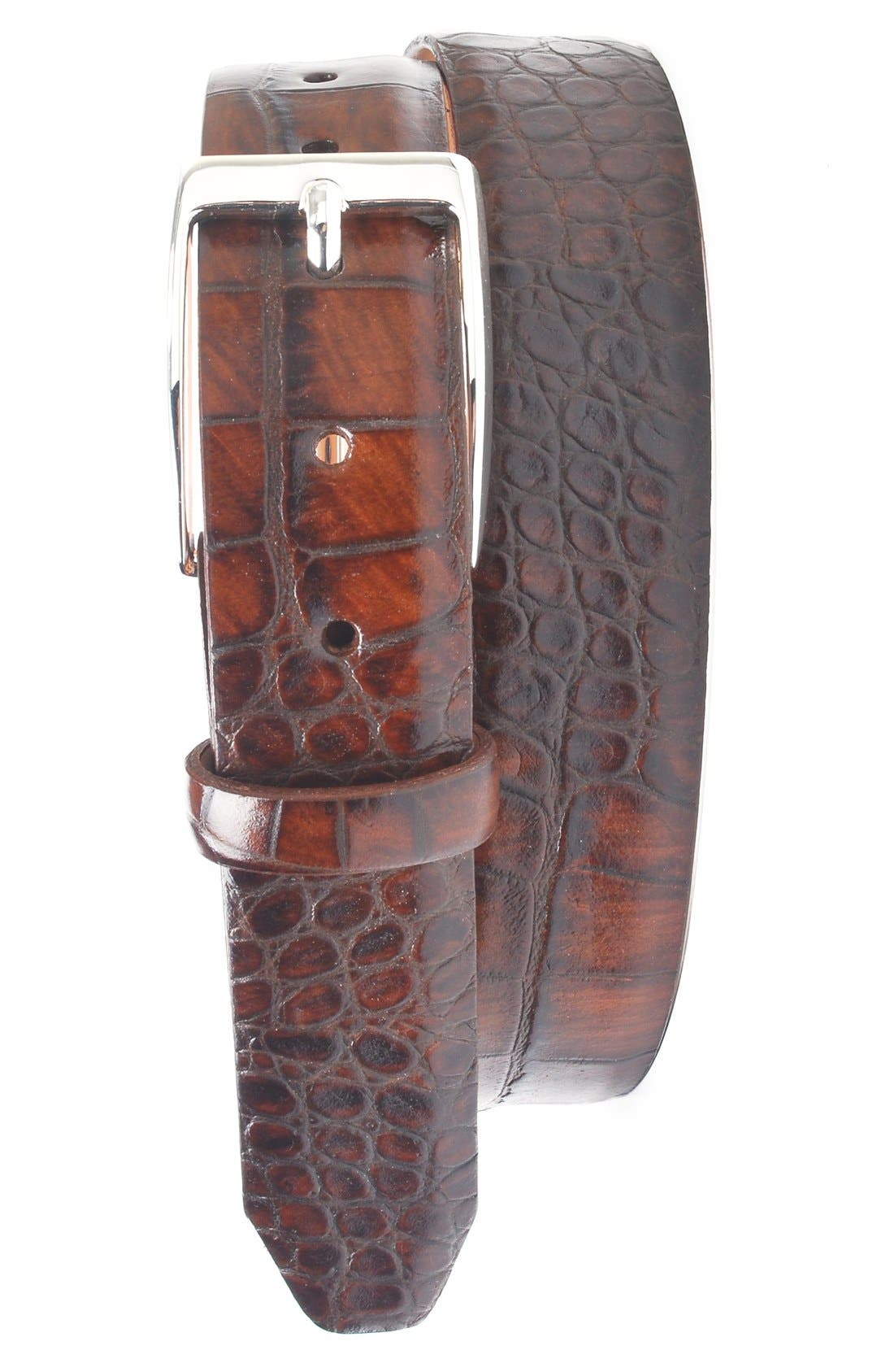 Anthony Leather Belt,                             Main thumbnail 1, color,                             Brown