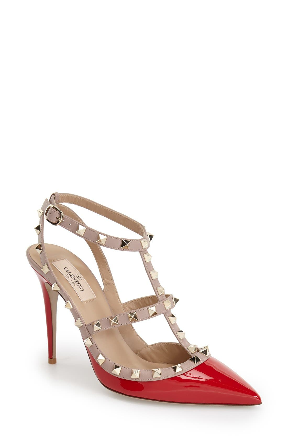 Alternate Image 1 Selected - VALENTINO GARAVANI Rockstud T-Strap Pump (Women)