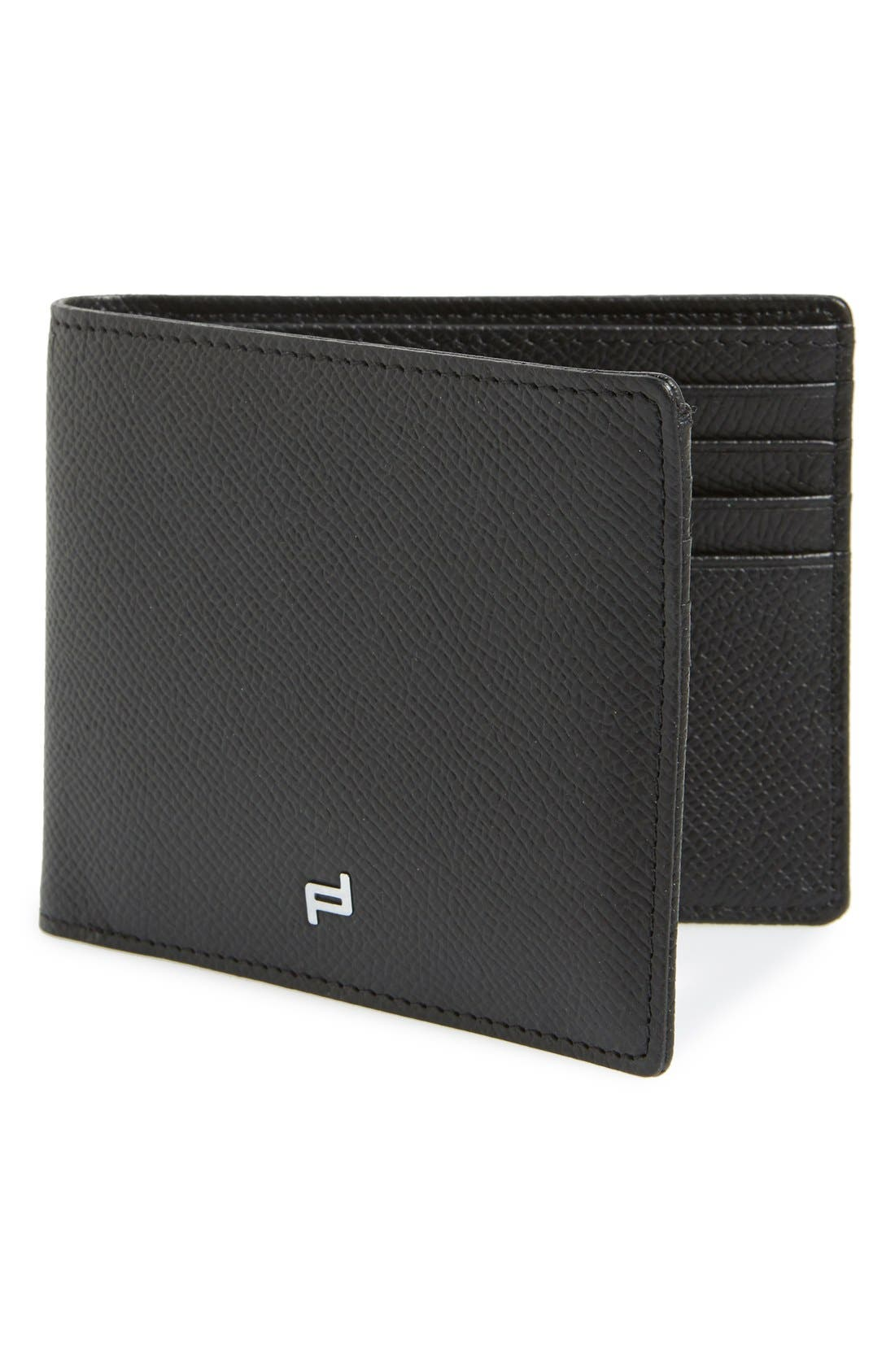 'FC 3.0'' Leather Bifold Wallet,                             Main thumbnail 1, color,                             Black