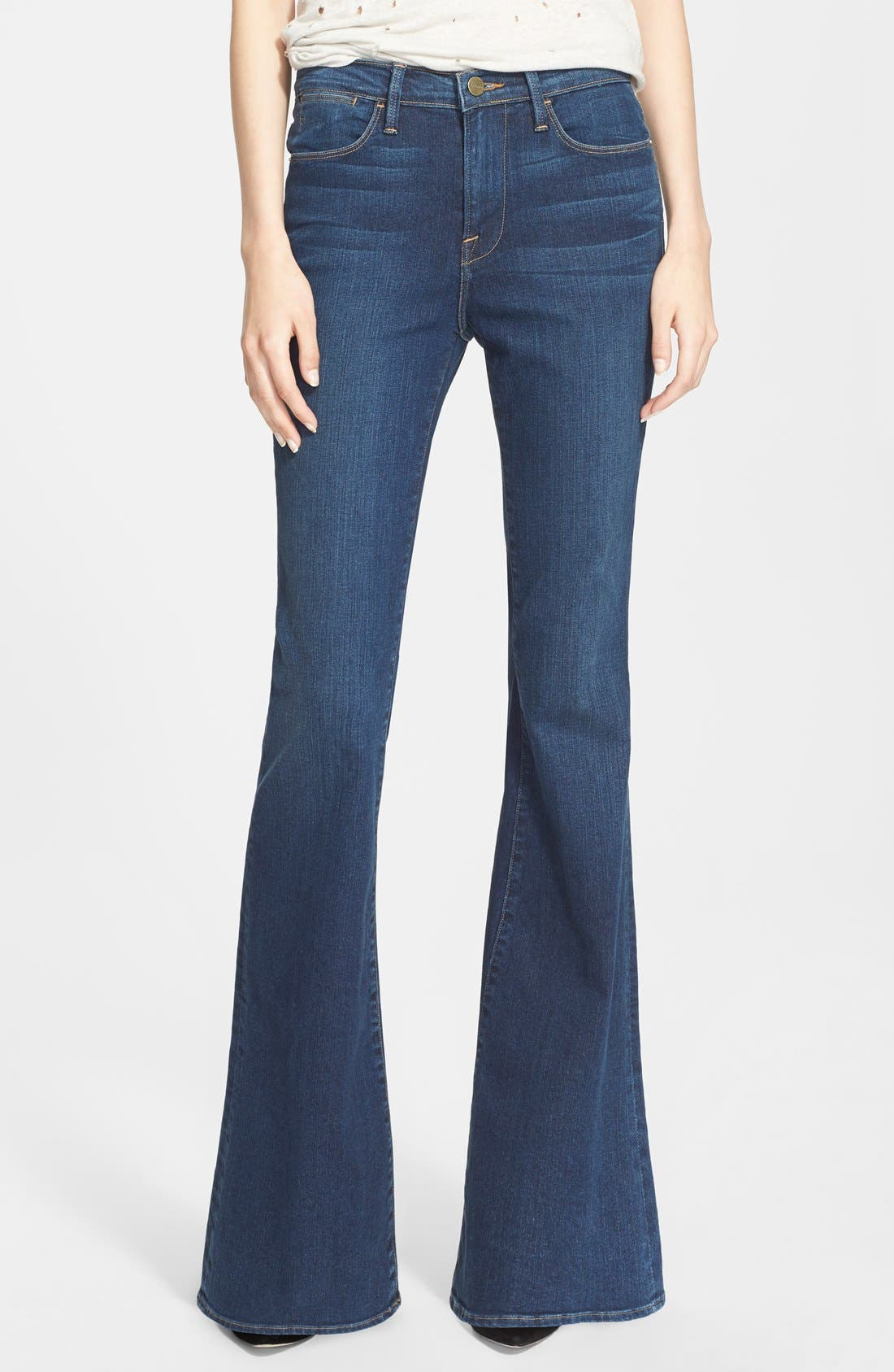 Denim 'Le High Flare' Flare Leg Jeans,                             Main thumbnail 1, color,                             Dunfield
