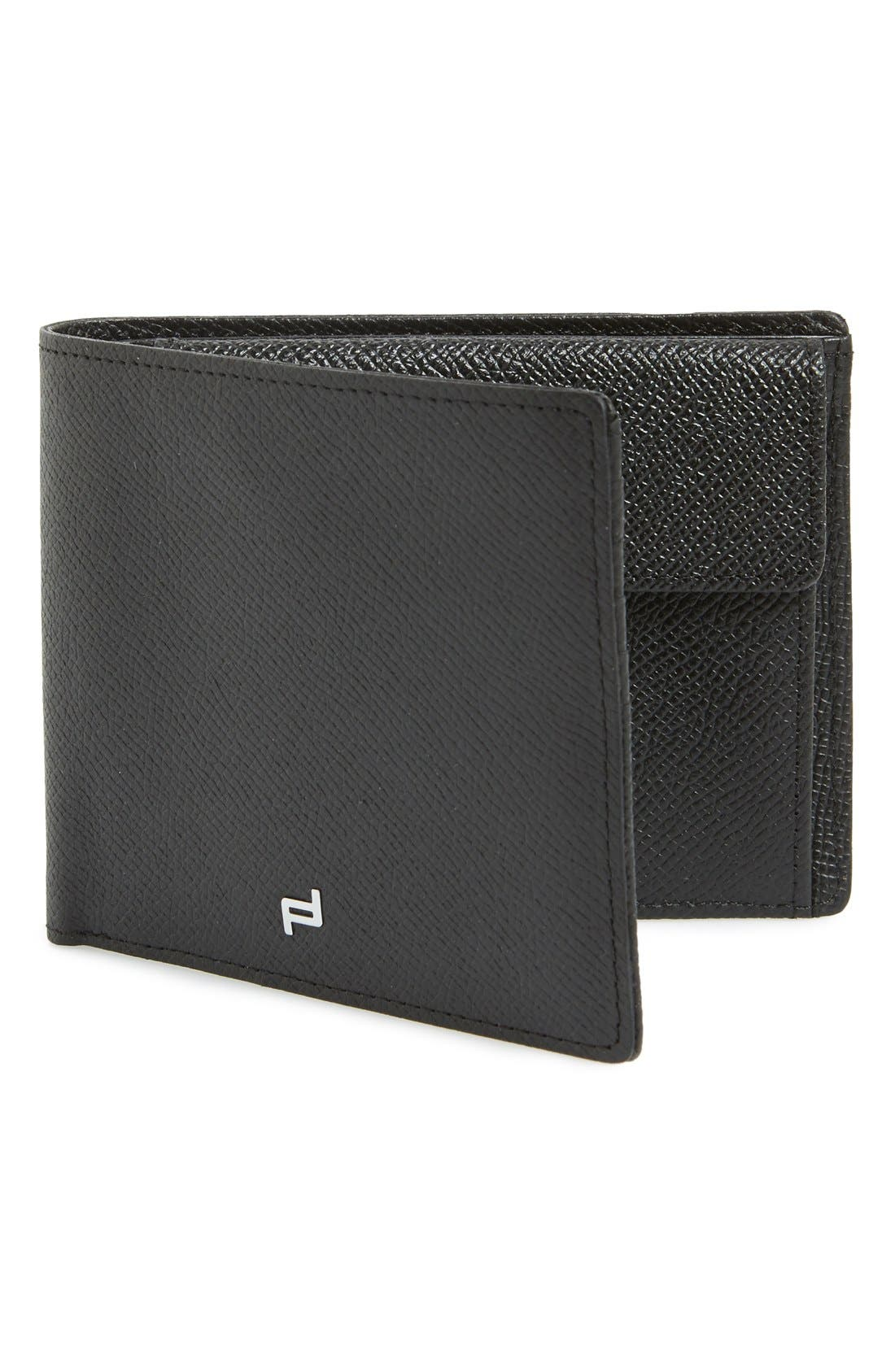 'French Classic 3.0' Leather Billfold Wallet,                         Main,                         color, Black