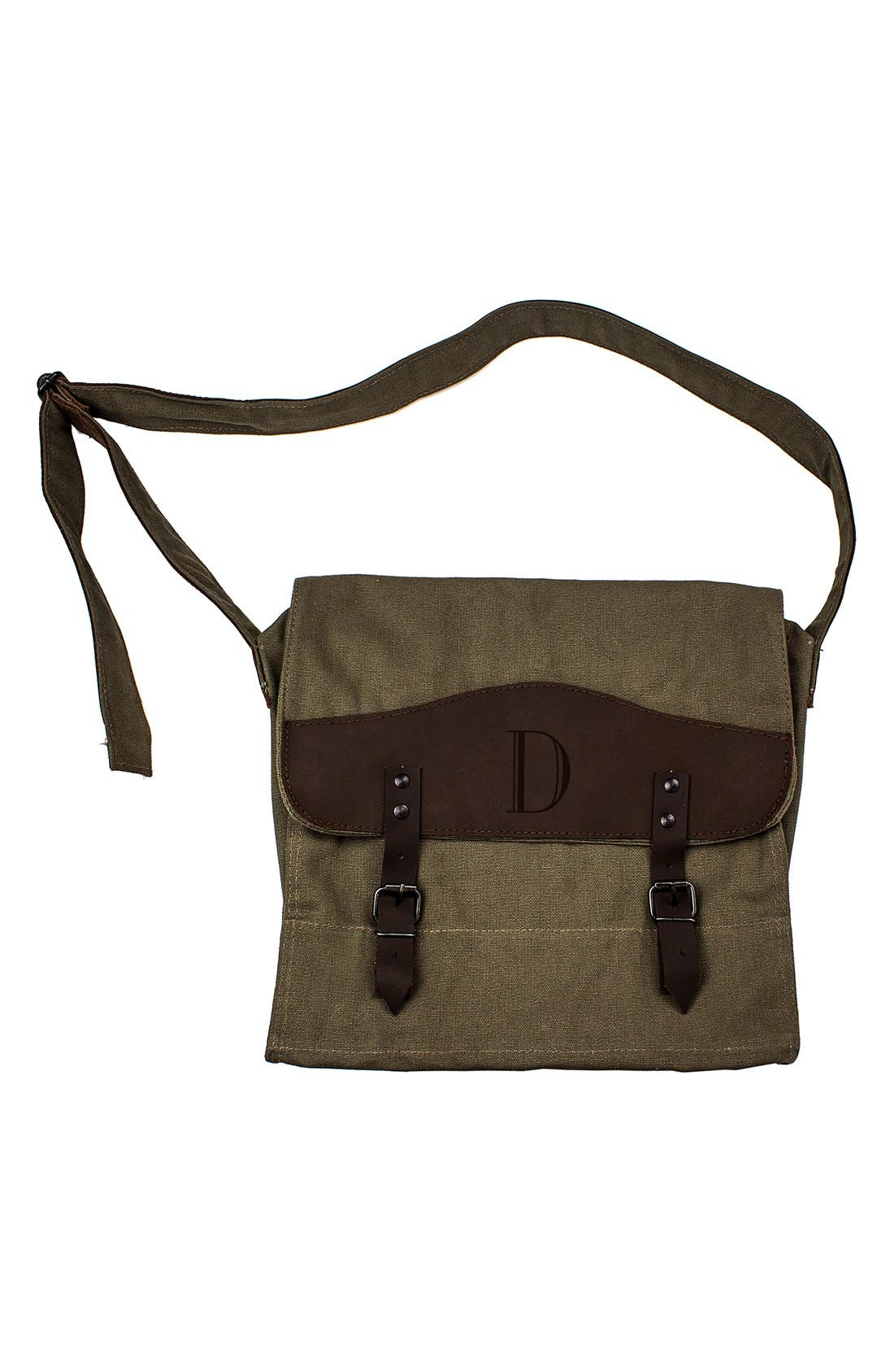 Monogram Messenger Bag,                         Main,                         color, Green - D