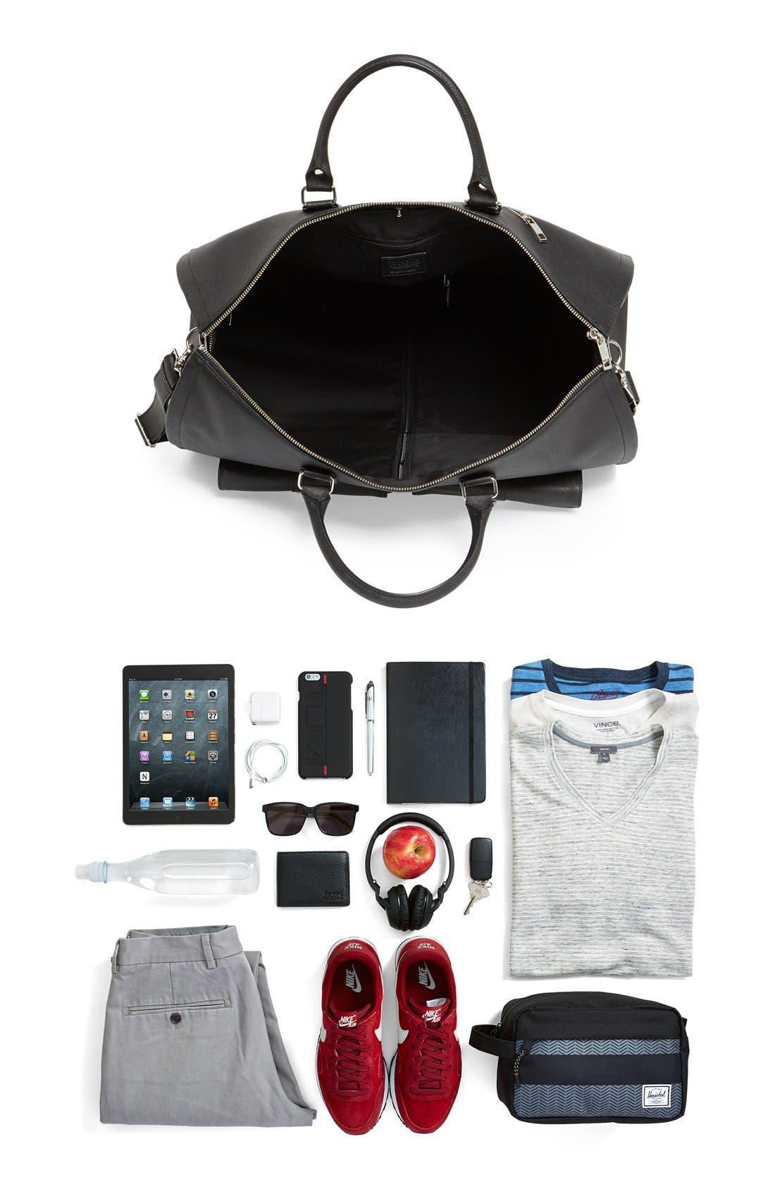 Alternate Image 6  - hook + ALBERT Saffiano Leather Garment/Duffel Bag