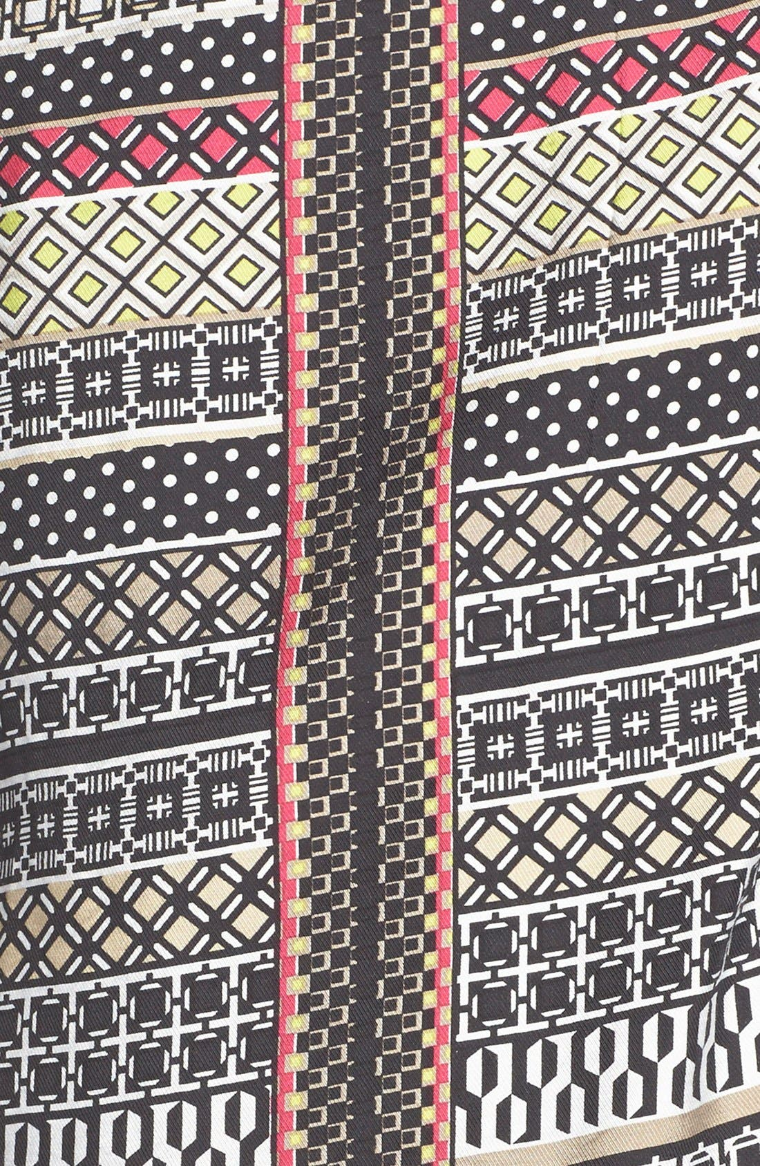 Alternate Image 4  - Laundry by Shelli Segal Print Twill A-Line Dress (Regular & Petite)