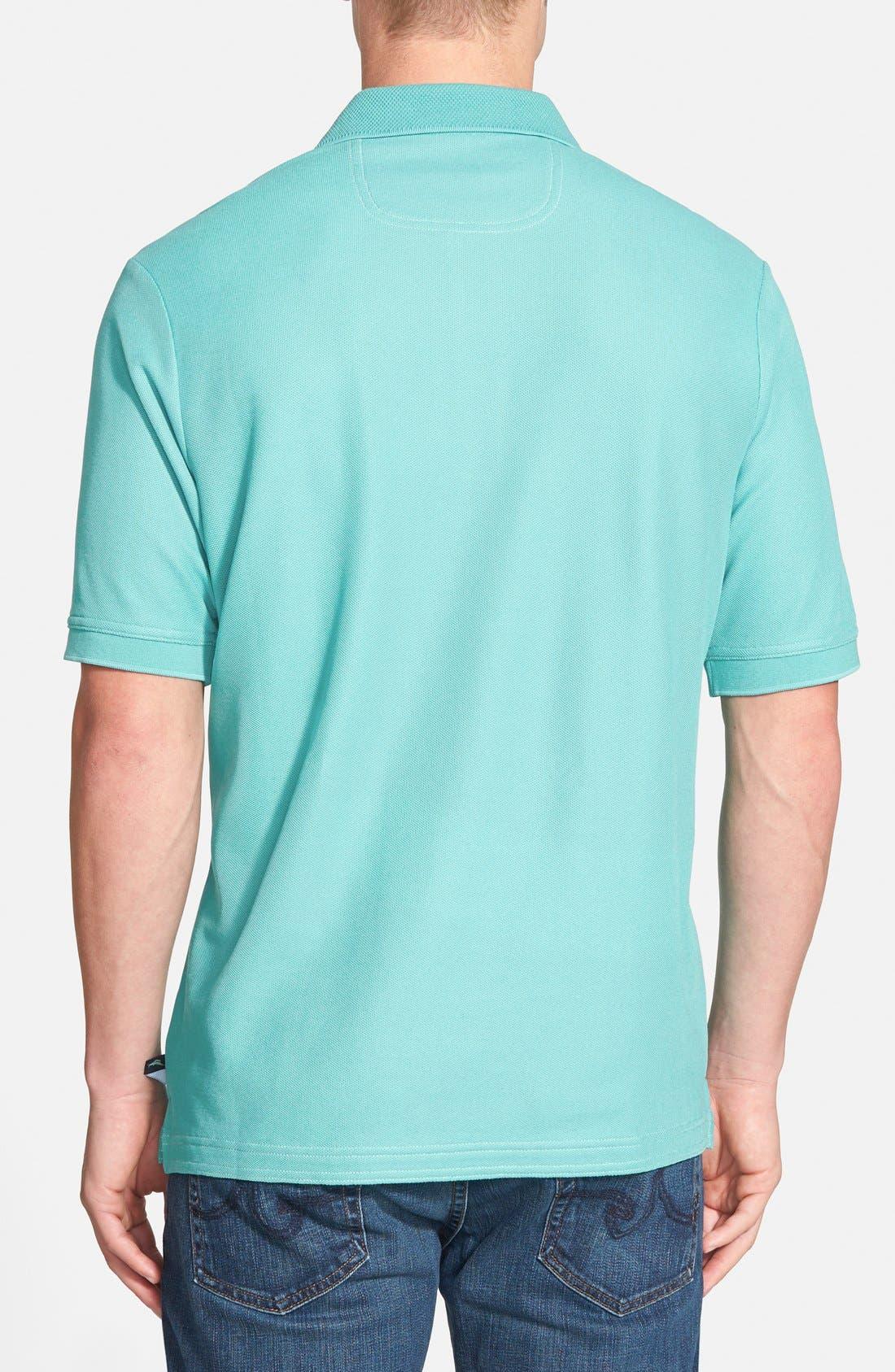 'The Emfielder' Original Fit Piqué Polo,                             Alternate thumbnail 2, color,                             Lawn Chair Blue
