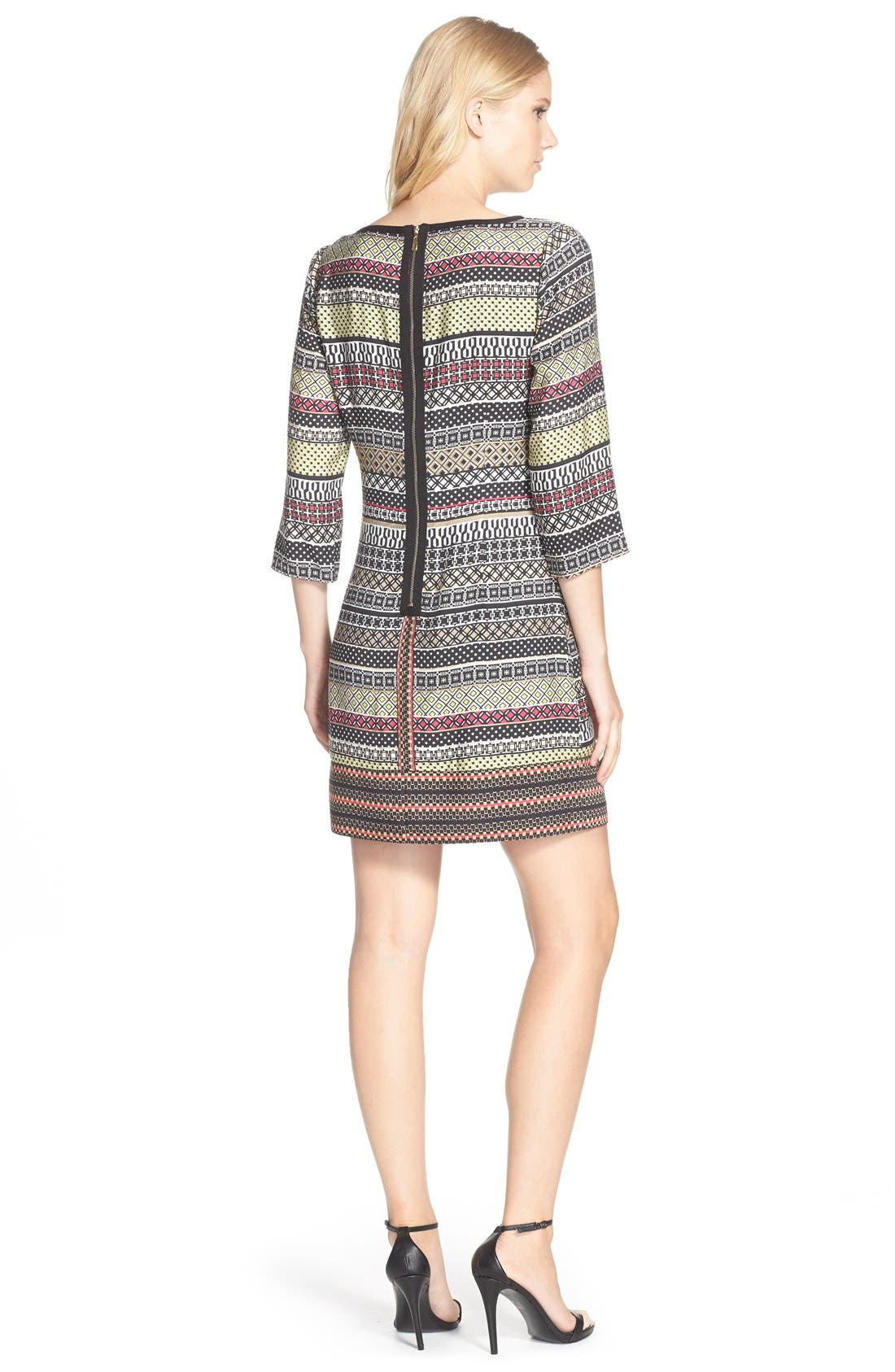 Alternate Image 2  - Laundry by Shelli Segal Print Twill A-Line Dress (Regular & Petite)