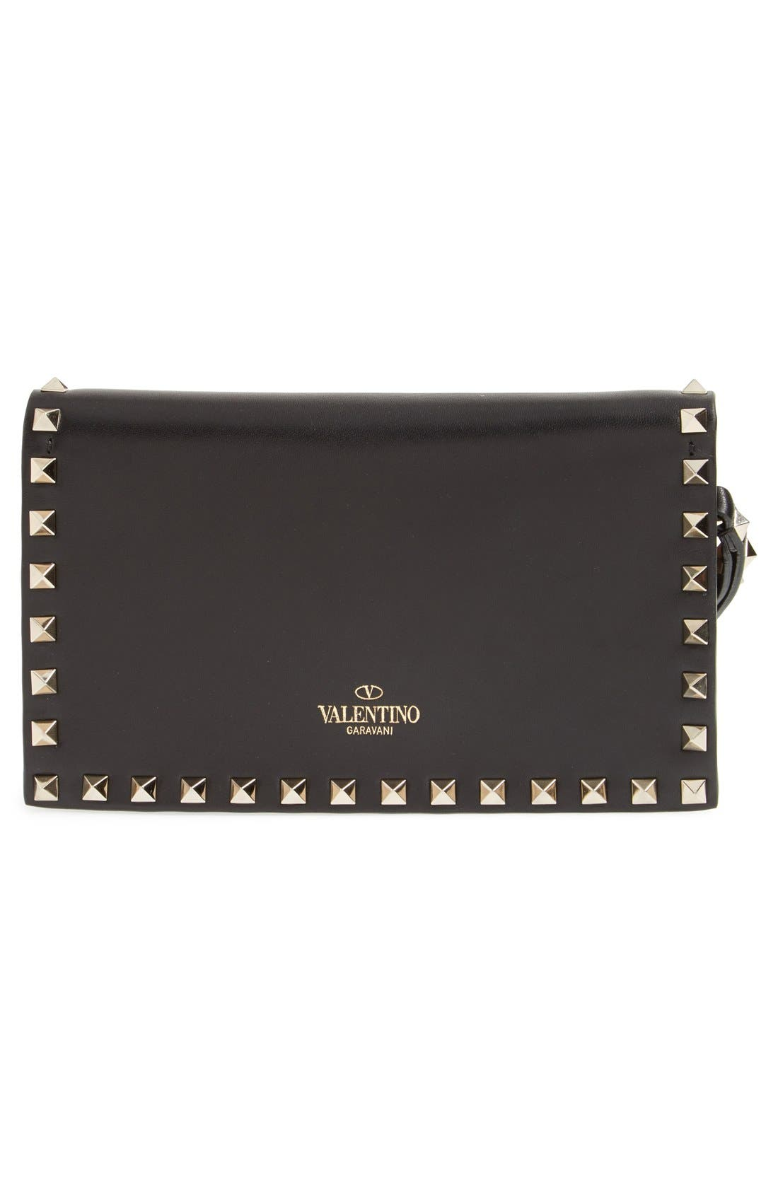Alternate Image 3  - Valentino 'Small Rockstud' Leather Flap Clutch