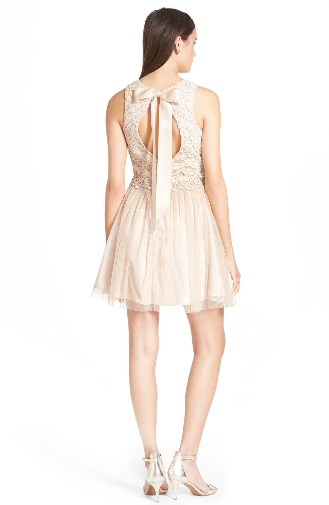 Alternate Image 2  - Morgan & Co. Lace Popover Dress