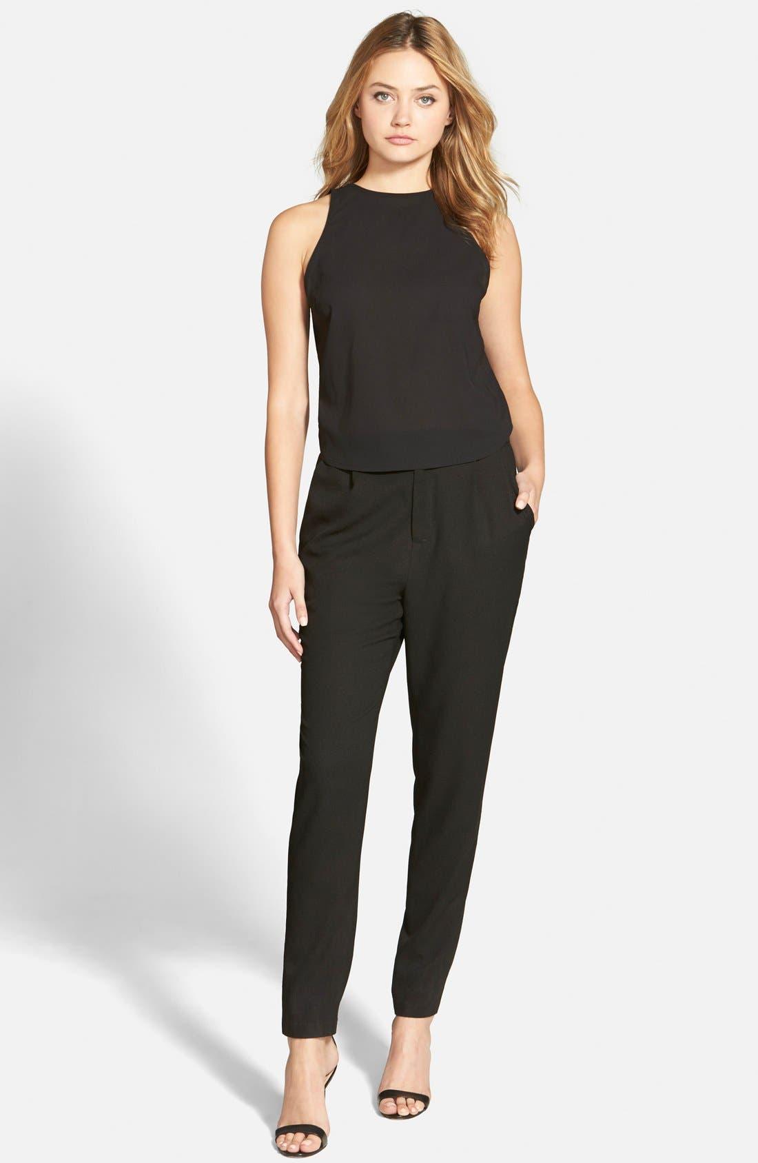 'Bradbury' Sleeveless Jumpsuit,                         Main,                         color, Black