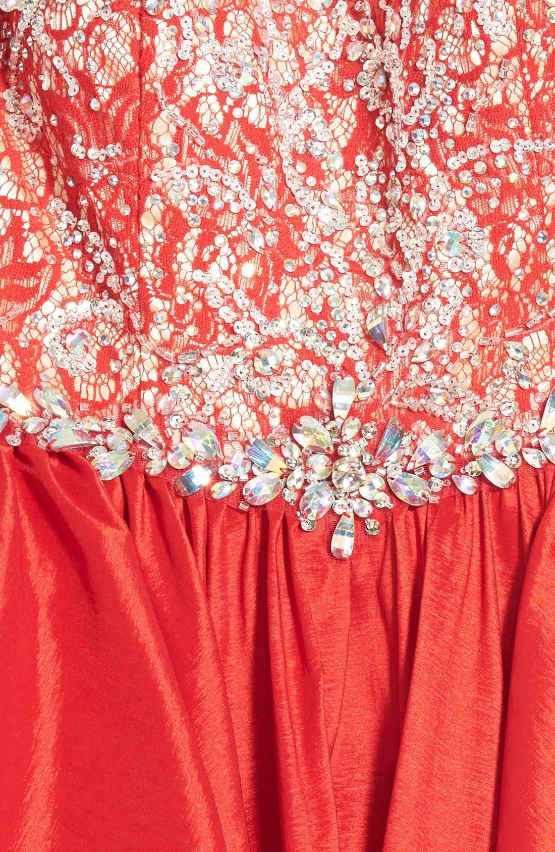 Alternate Image 3  - Mac Duggal Embellished Bodice Skater Dress
