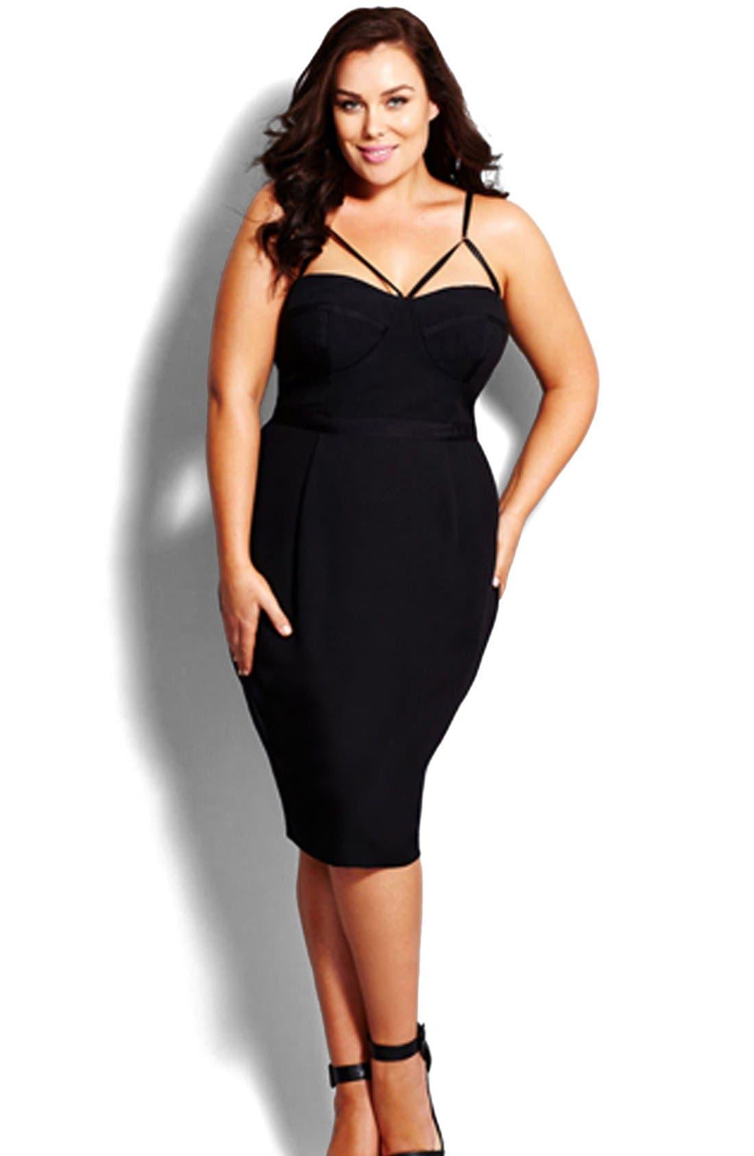 Main Image - City Chic 'Undress Me' Dress (Plus Size)