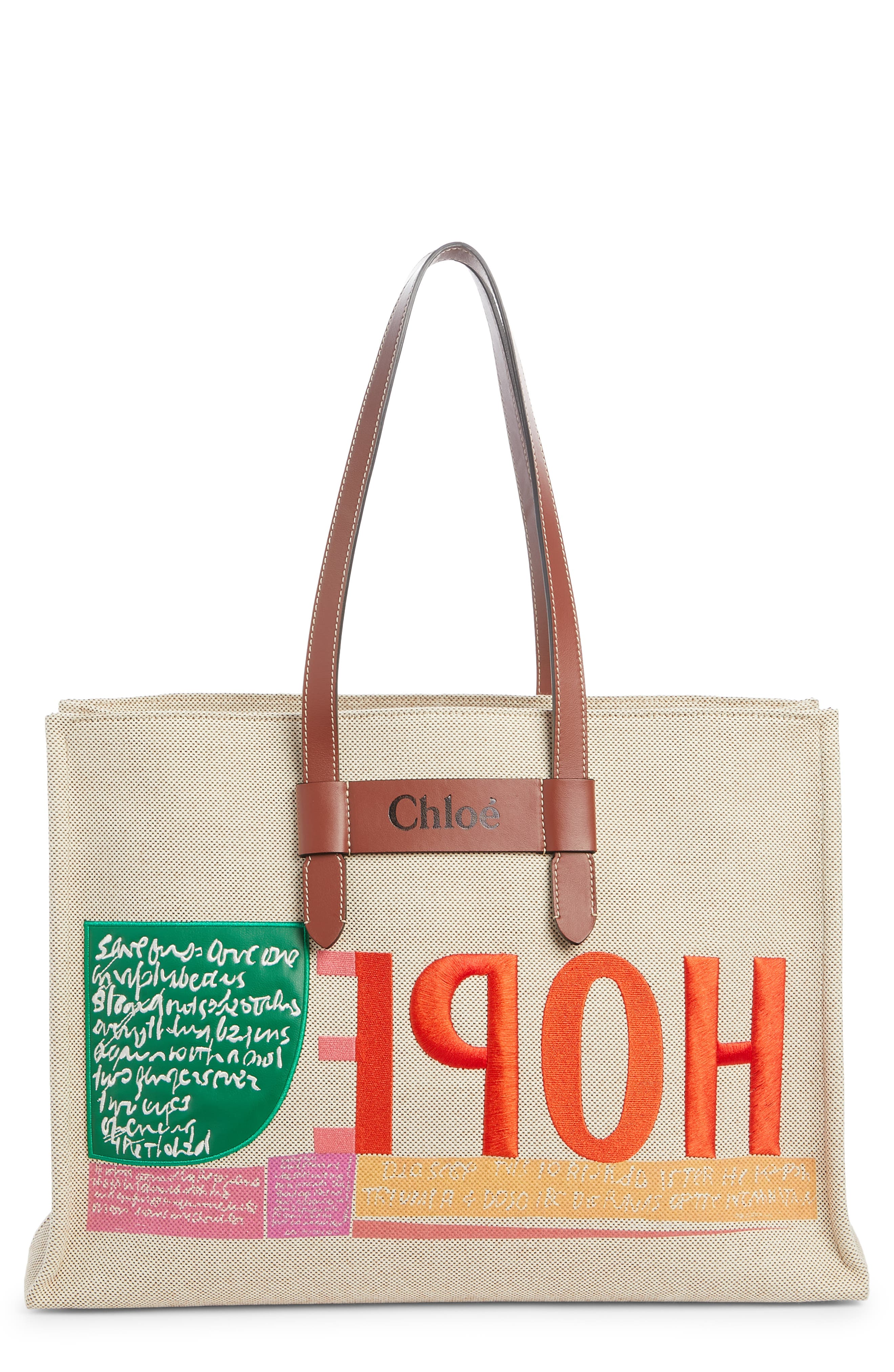 Be Our Guest embroidered pocket tote