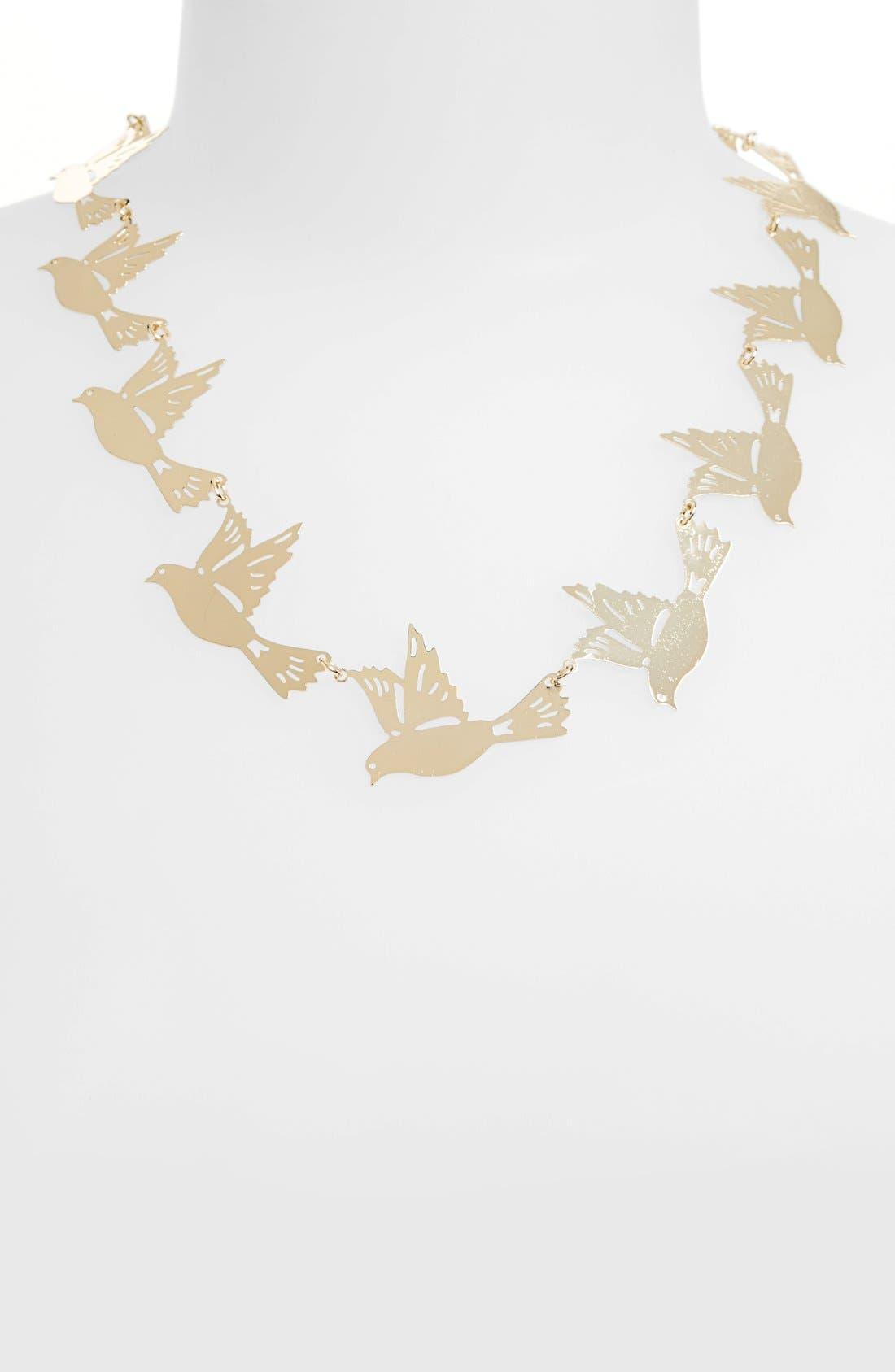 Alternate Image 2  - Topshop Bird Collar Necklace