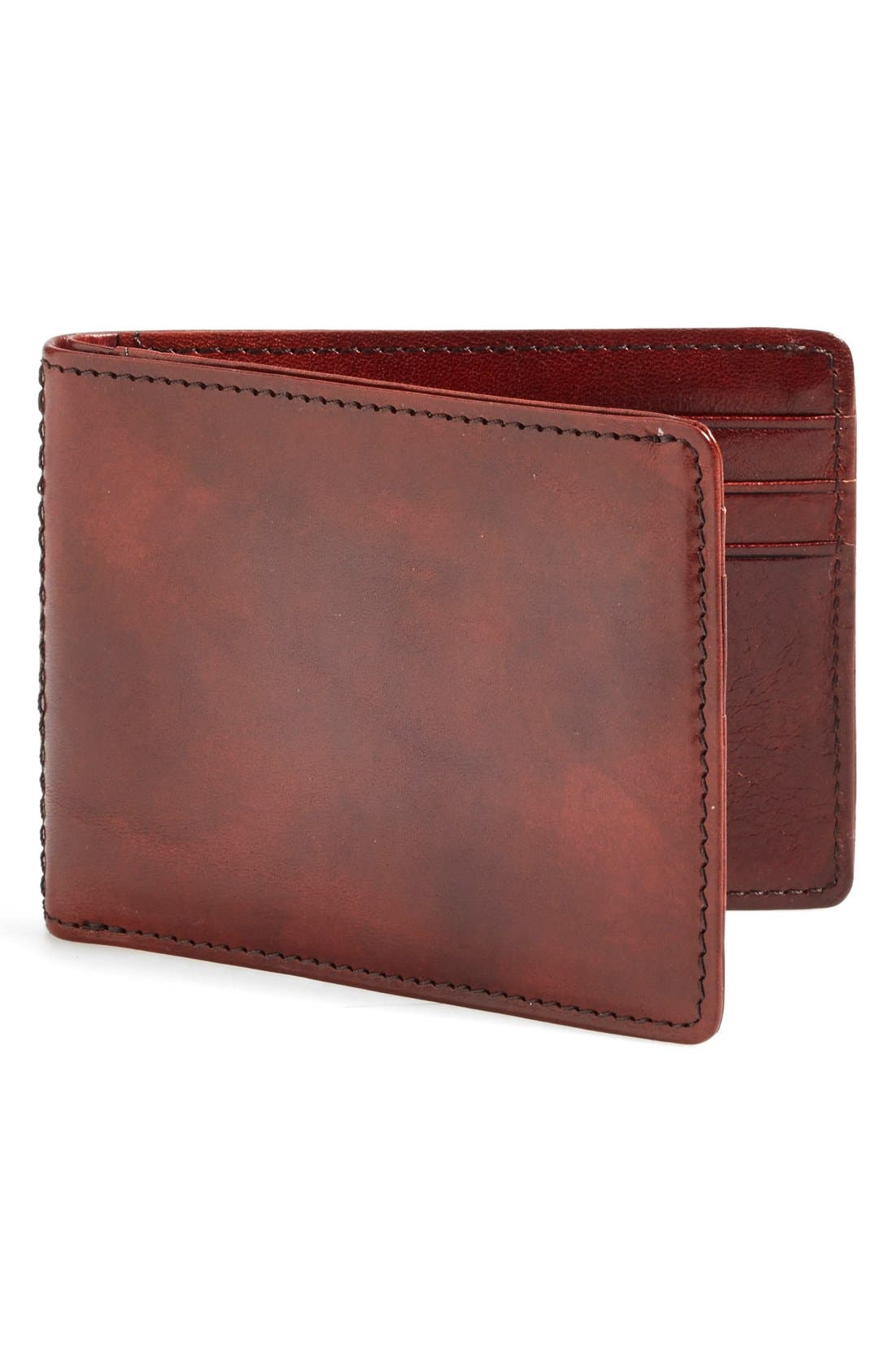 Small Bifold Wallet,                         Main,                         color, Brown