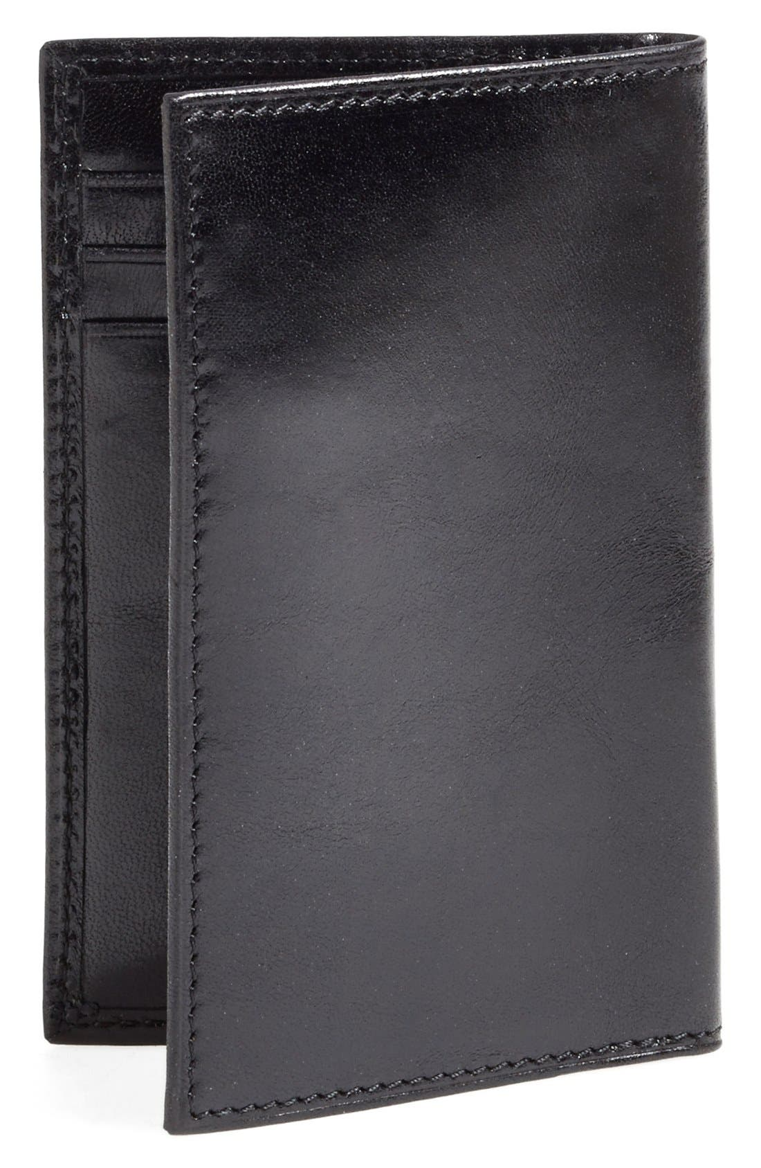 'Old Leather' Card Case,                             Alternate thumbnail 2, color,                             Black