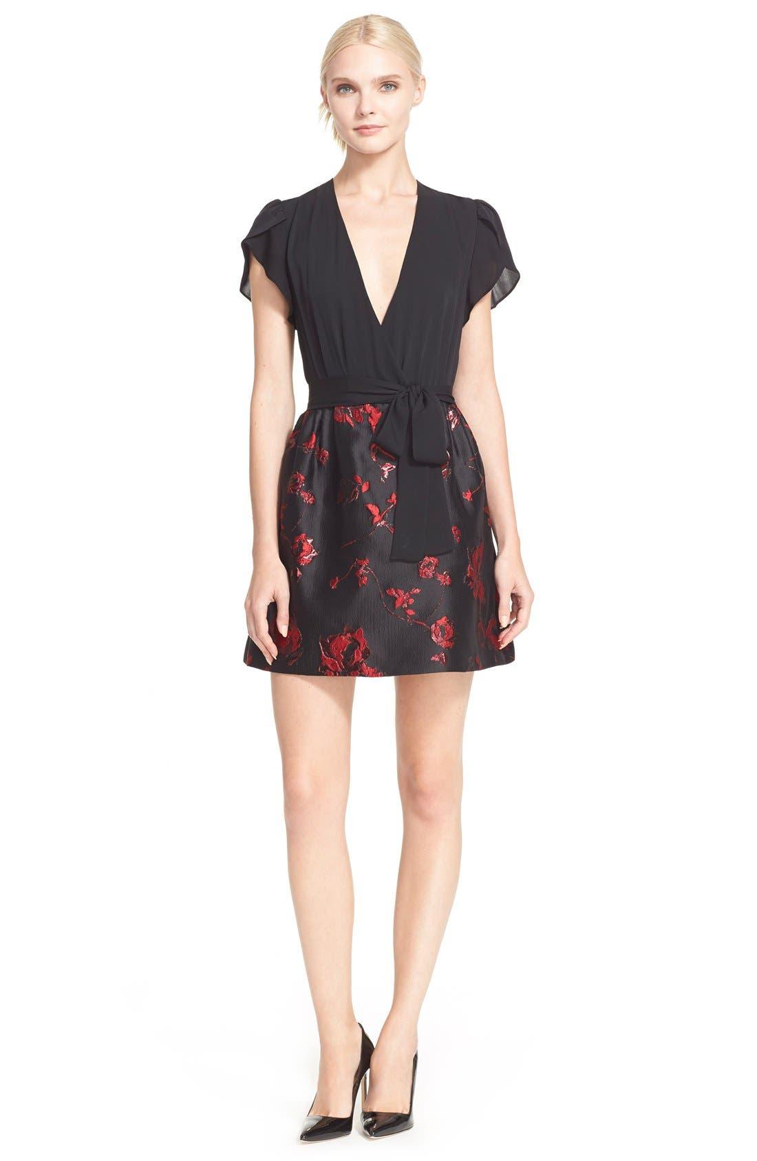 Main Image - Diane von Furstenberg 'Ivy' Floral Brocade Dress