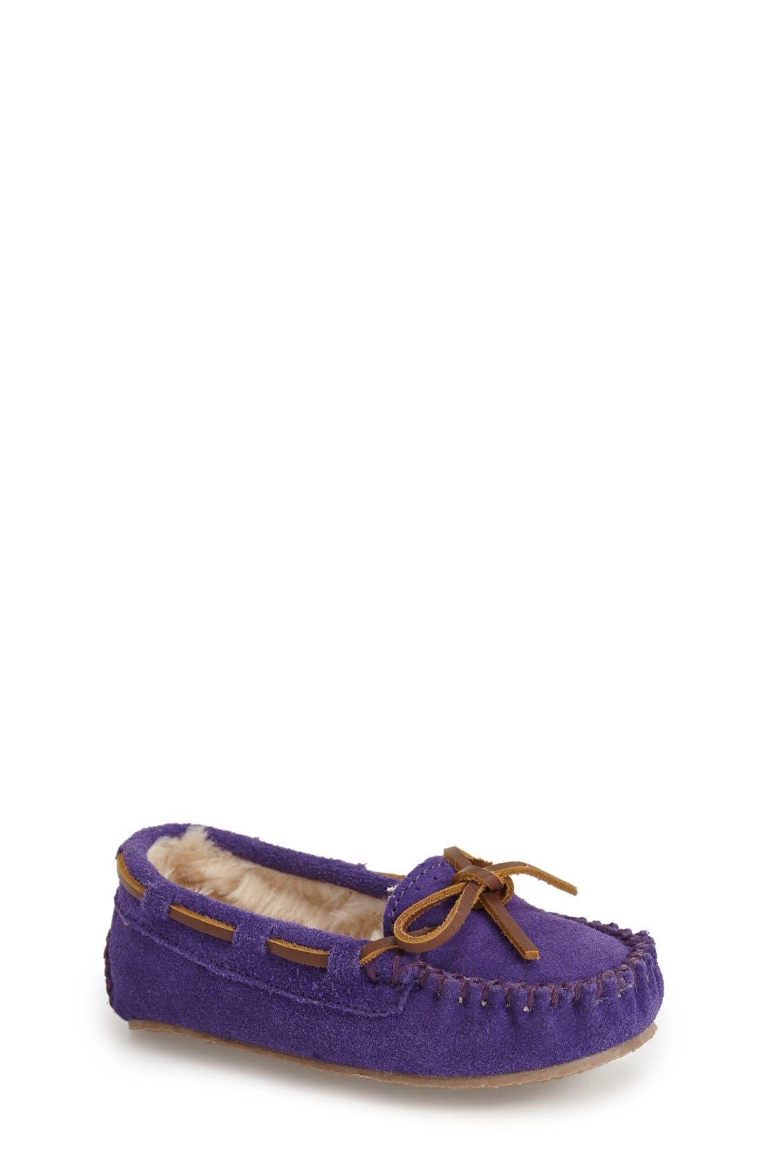 Kiltie Moccasin,                             Main thumbnail 1, color,                             Purple