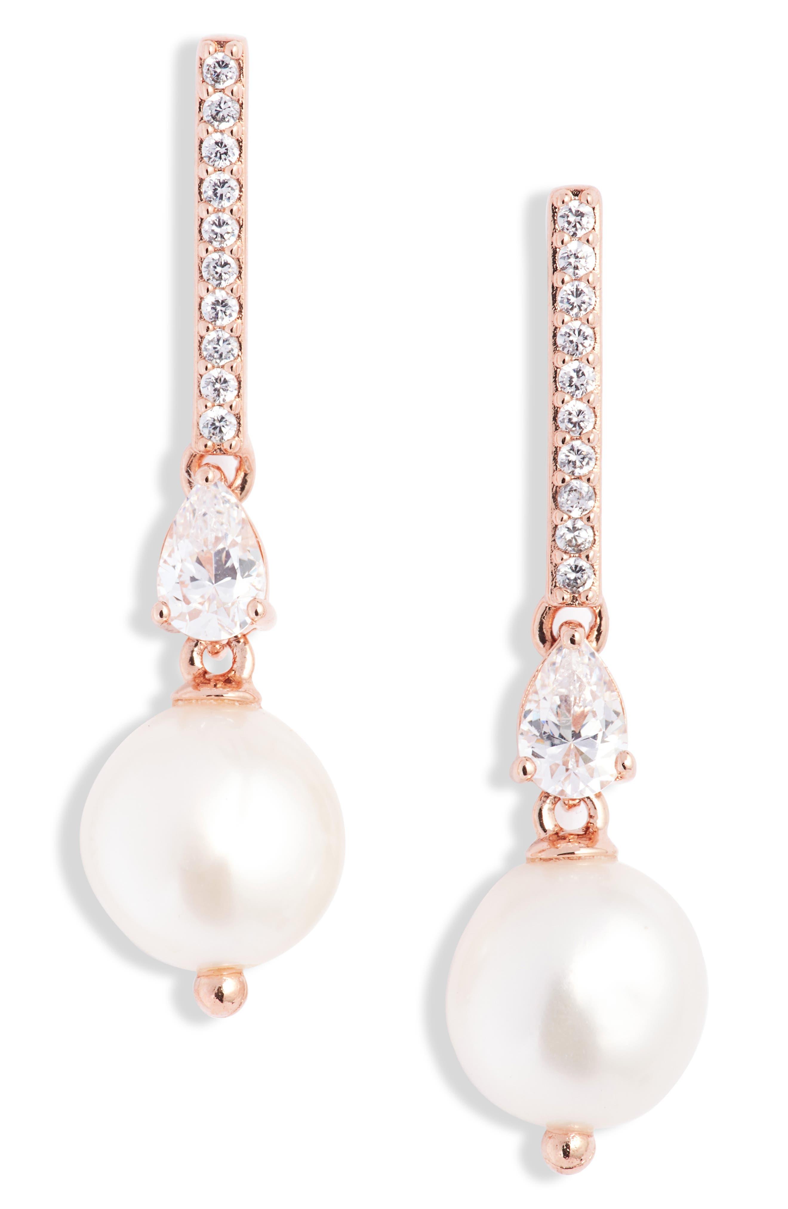 Mother of pear earrings BOSS LADY Large Pearl cluster earrings