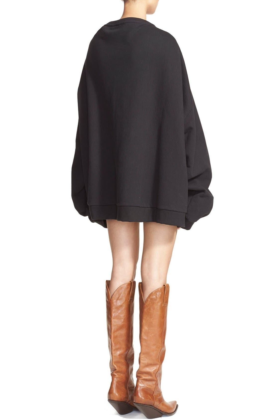 Alternate Image 2  - Vetements Oversize Crewneck Sweatshirt