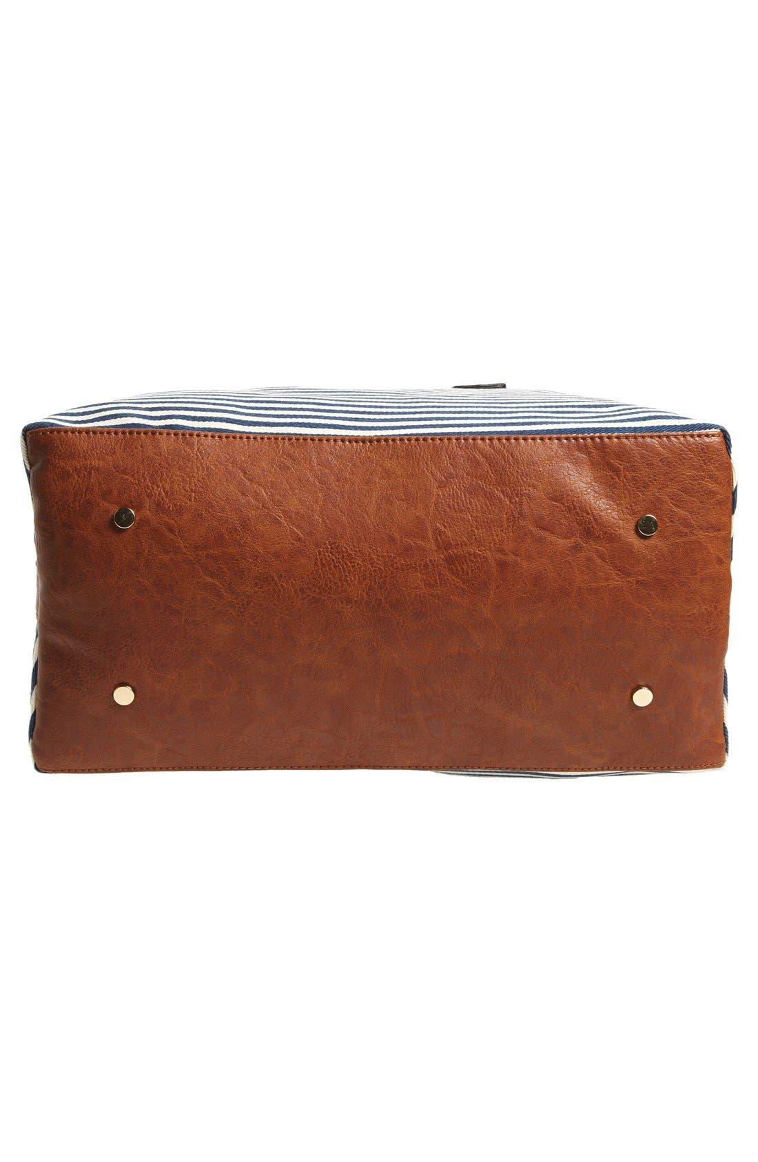 Alternate Image 6  - Sole Society 'Leighton' Stripe Duffel Bag