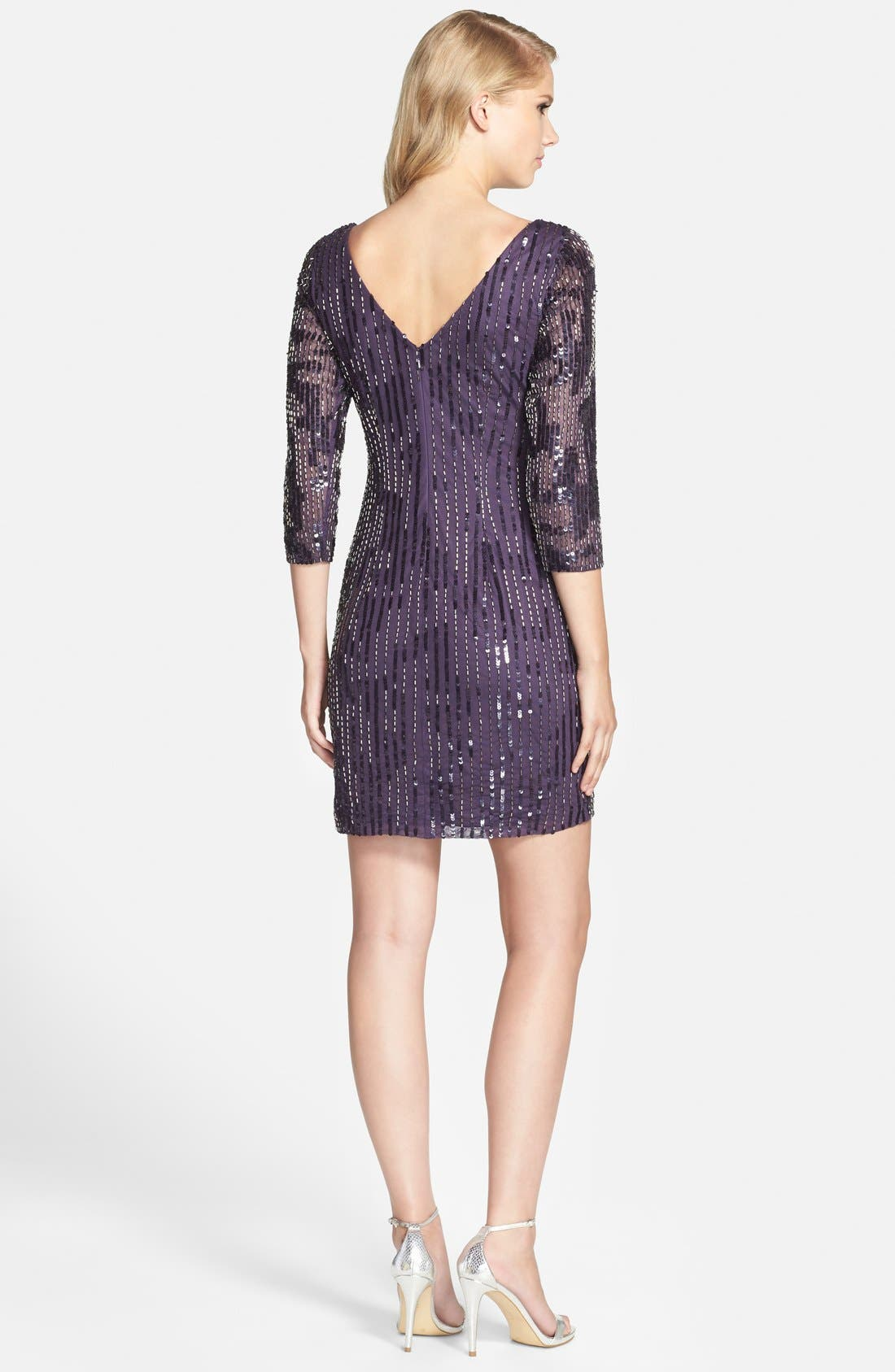 Alternate Image 2  - Adrianna Papell Embellished Sheath Dress (Regular & Petite)