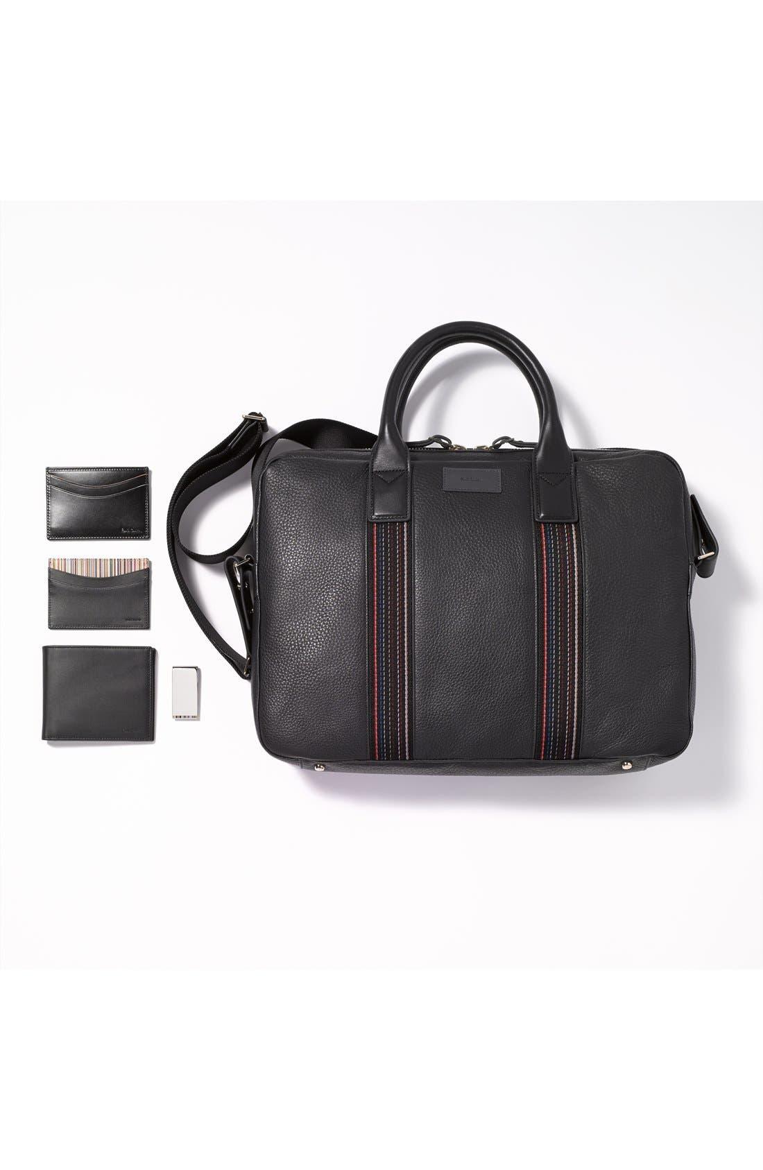 Alternate Image 5  - Paul Smith Interior Stripe Leather Billfold