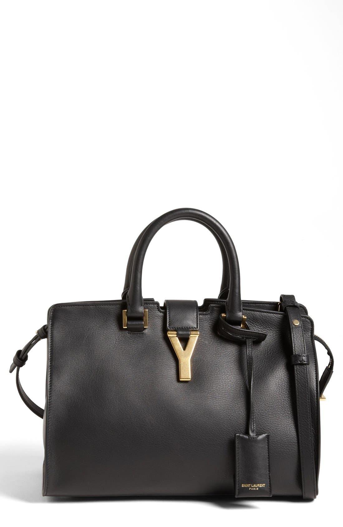 Alternate Image 1 Selected - Saint Laurent 'Petite Ligne Y' Leather Tote