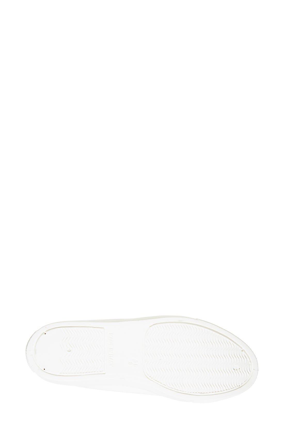 'Copenhagen' Lizard Embossed Faux Leather Sneaker,                             Alternate thumbnail 4, color,                             White