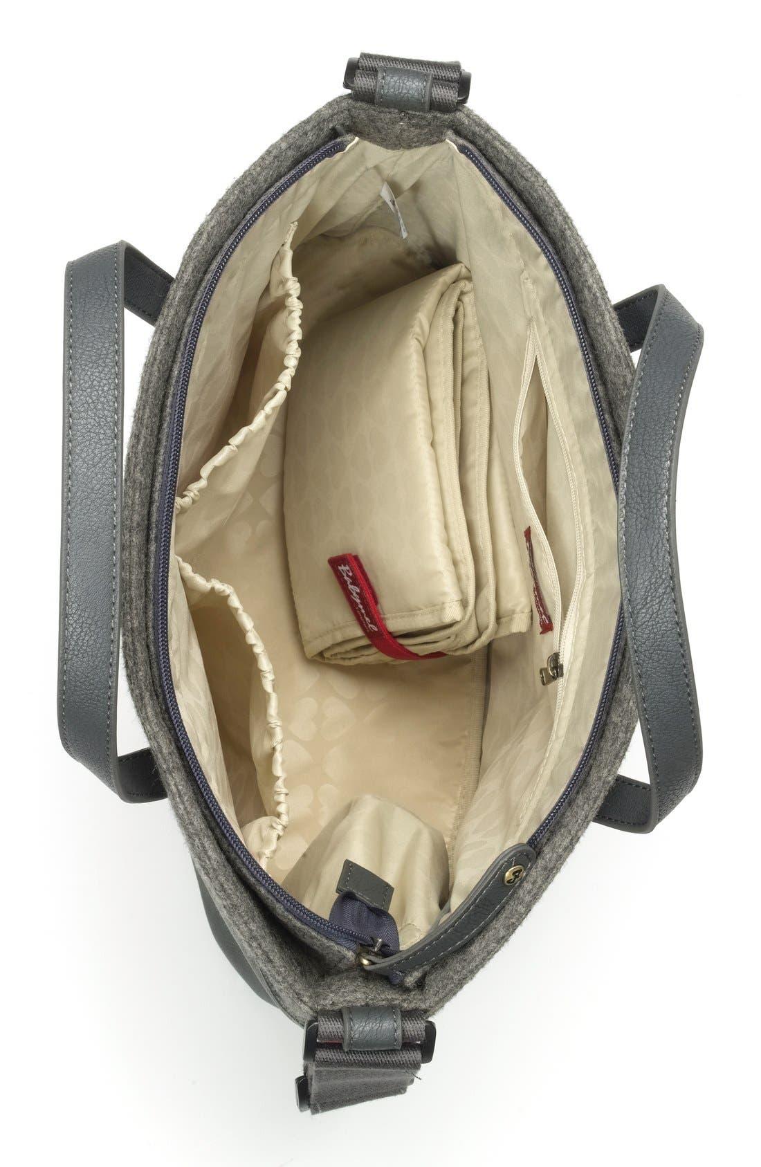 'Grace' Diaper Bag,                             Alternate thumbnail 3, color,                             Grey