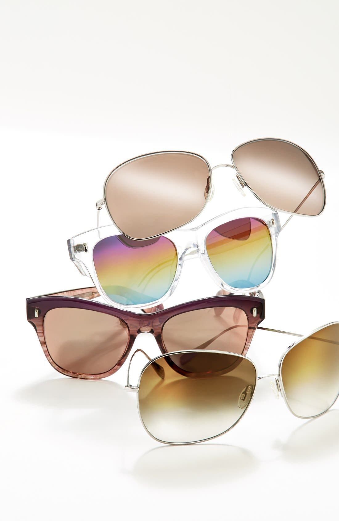 Alternate Image 3  - Oliver Peoples Elsie 64mm Oversize Metal Sunglasses