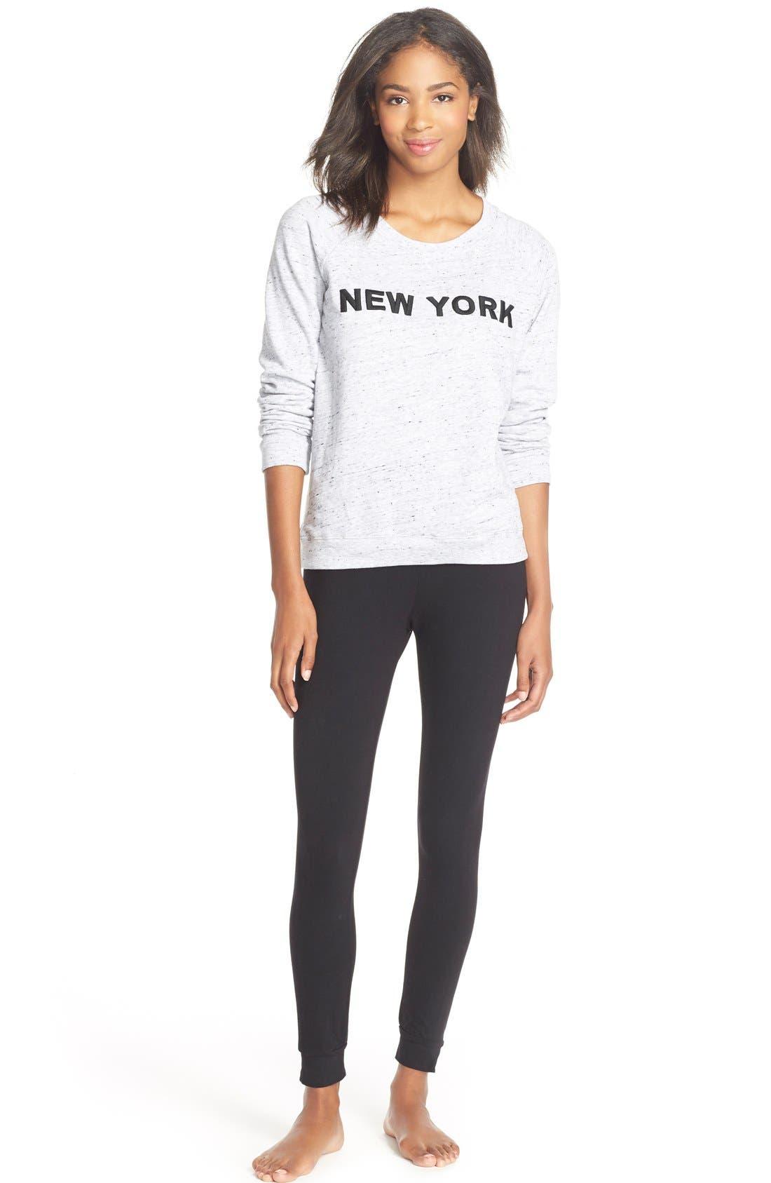 Alternate Image 3  - Monrow'City' Embroidered Pullover Sweatshirt