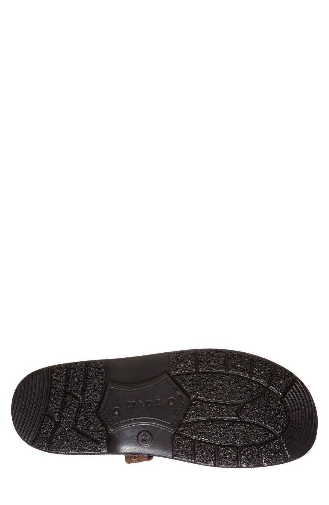 Balkan Sandal,                             Alternate thumbnail 4, color,                             Brown Leather