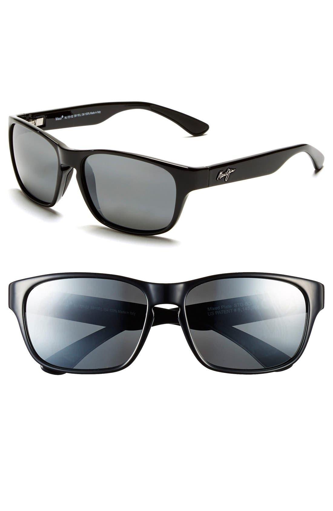 Maui Jim Mixed Plate Sonnenbrille Mattes Tortoise STG-BG Polarisiert 58mm dXQNt